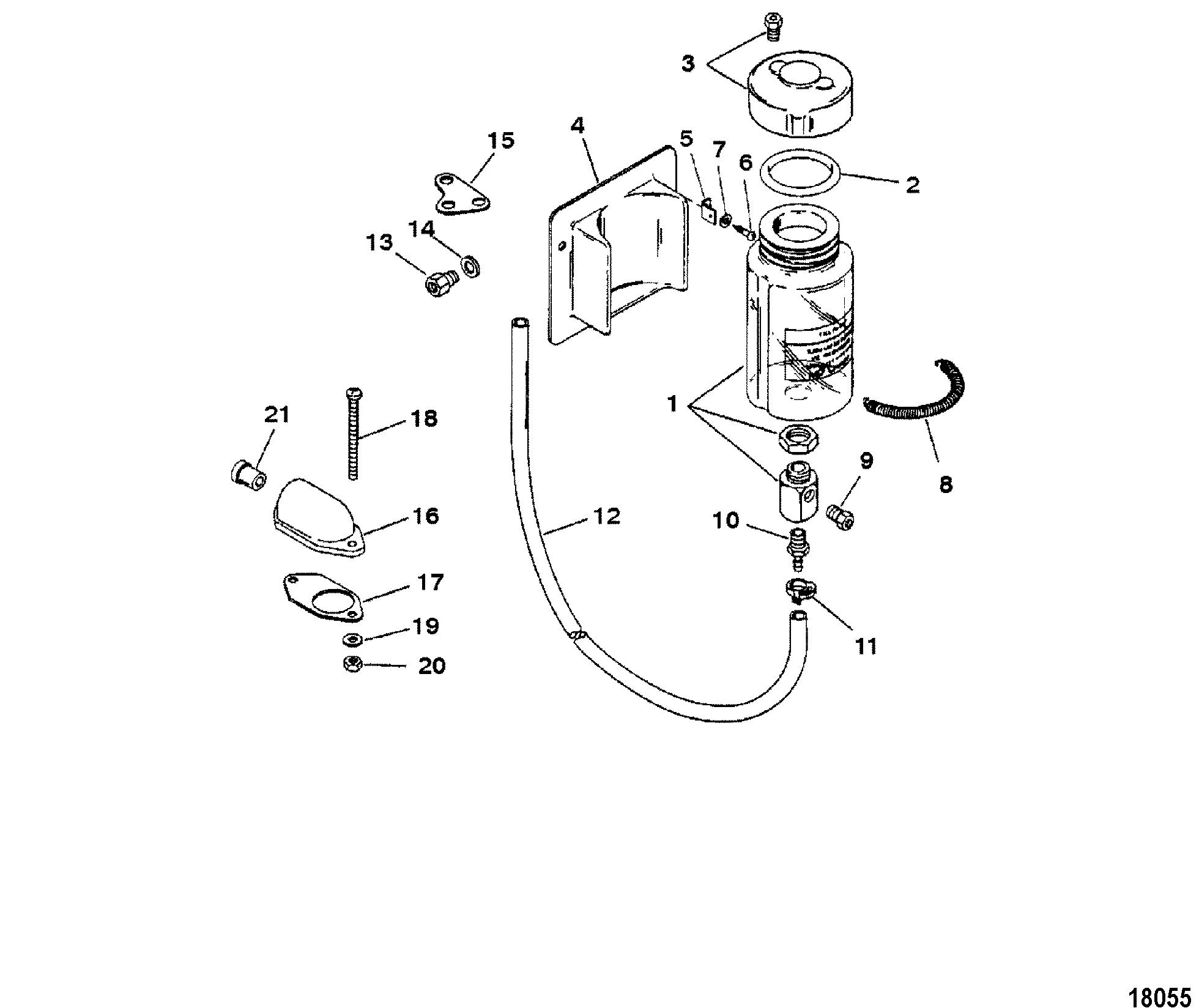 Oil Reservoir Assembly 69622A 7 FOR FUEL/OIL TANKS, LINES