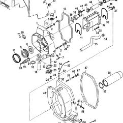 Alpha One Sterndrive Parts Diagram Dji Phantom 2 Wi Fi Wiring Gimbal Housing Integrated Transom For Mercruiser Race