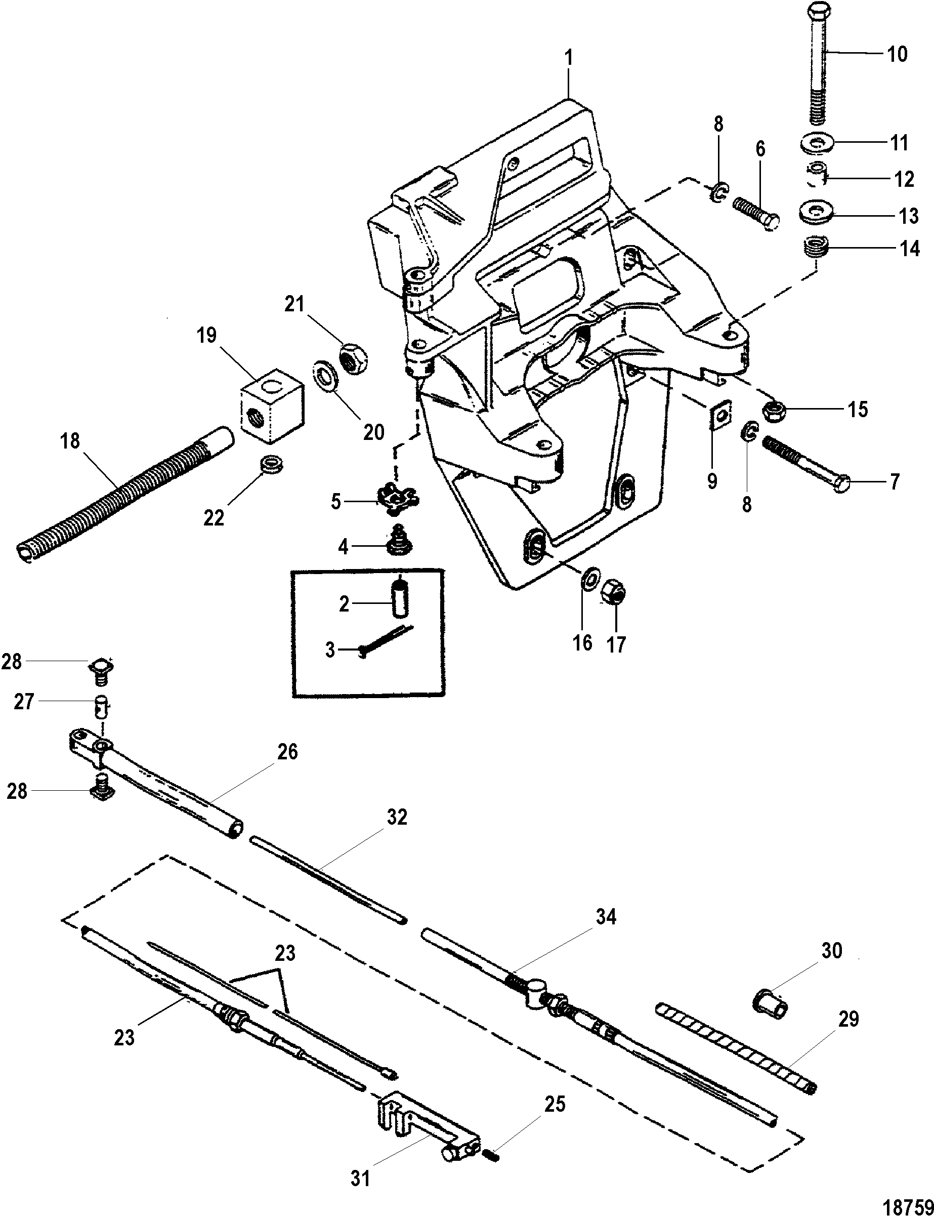 alpha one sterndrive parts diagram pioneer car stereo speaker wiring transom plate and shift cable for mercruiser r mr