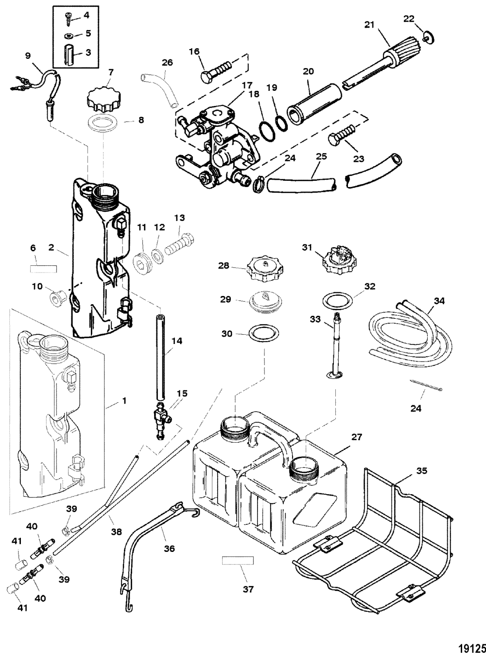 medium resolution of oil injection components for mariner mercury 225 250 3 1998 mercury 225 efi wiring diagram 1999 mercury efi 225
