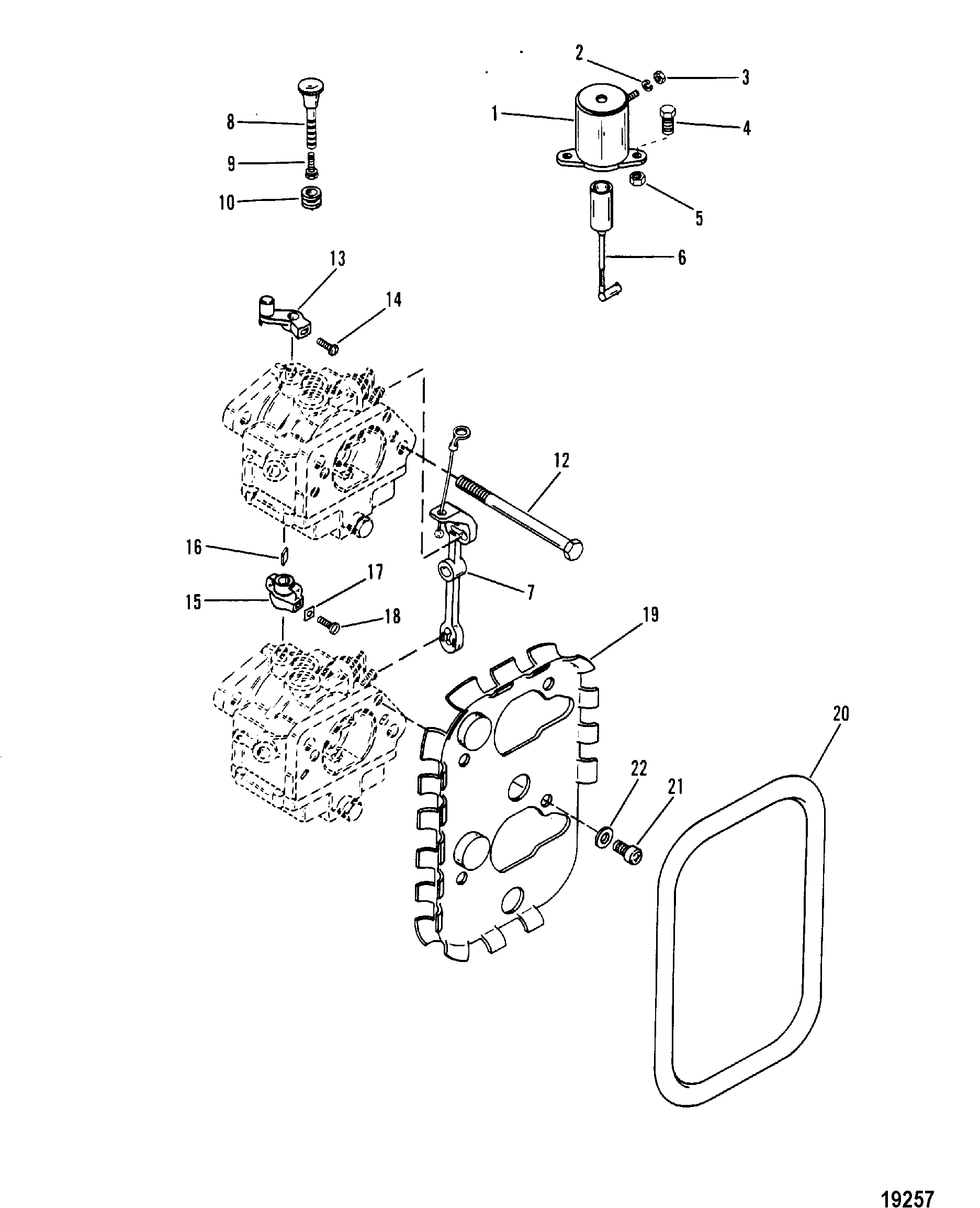 Carburetor Linkage And Choke Solenoid For Mariner