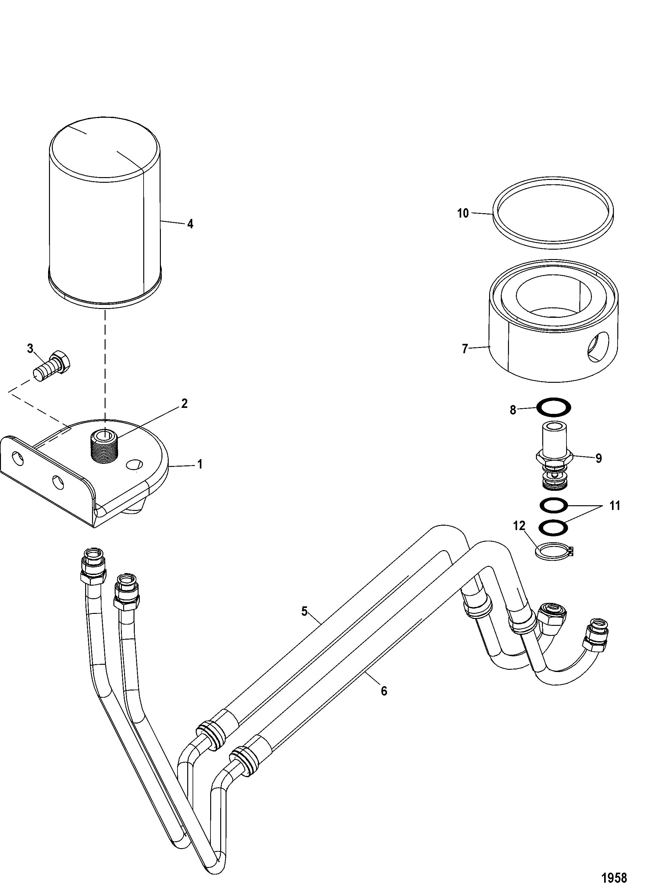 Remote Oil Filter Kit 864990A 2 FOR FUEL/OIL TANKS, LINES