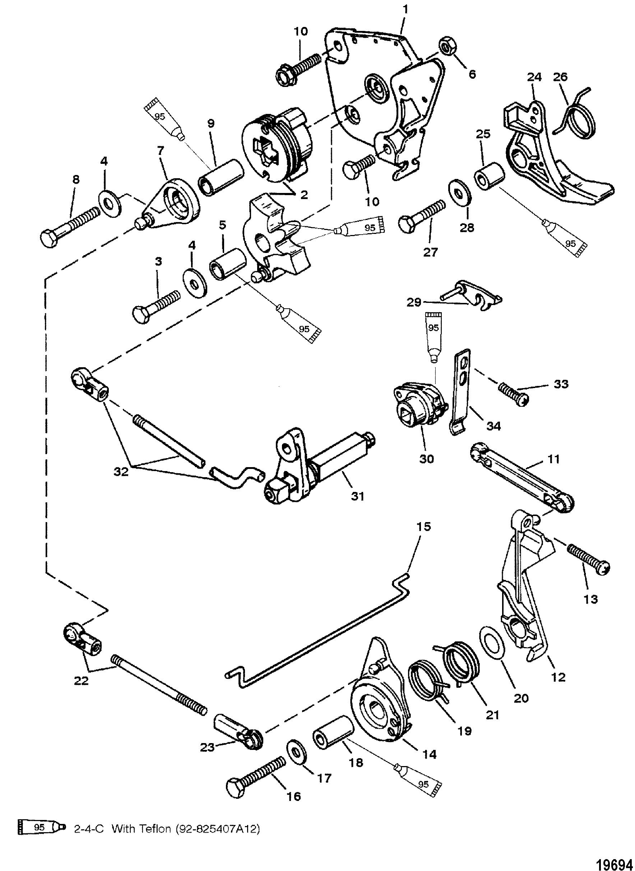 Throttle and Shift Linkage Tiller Handle Shift FOR MARINER