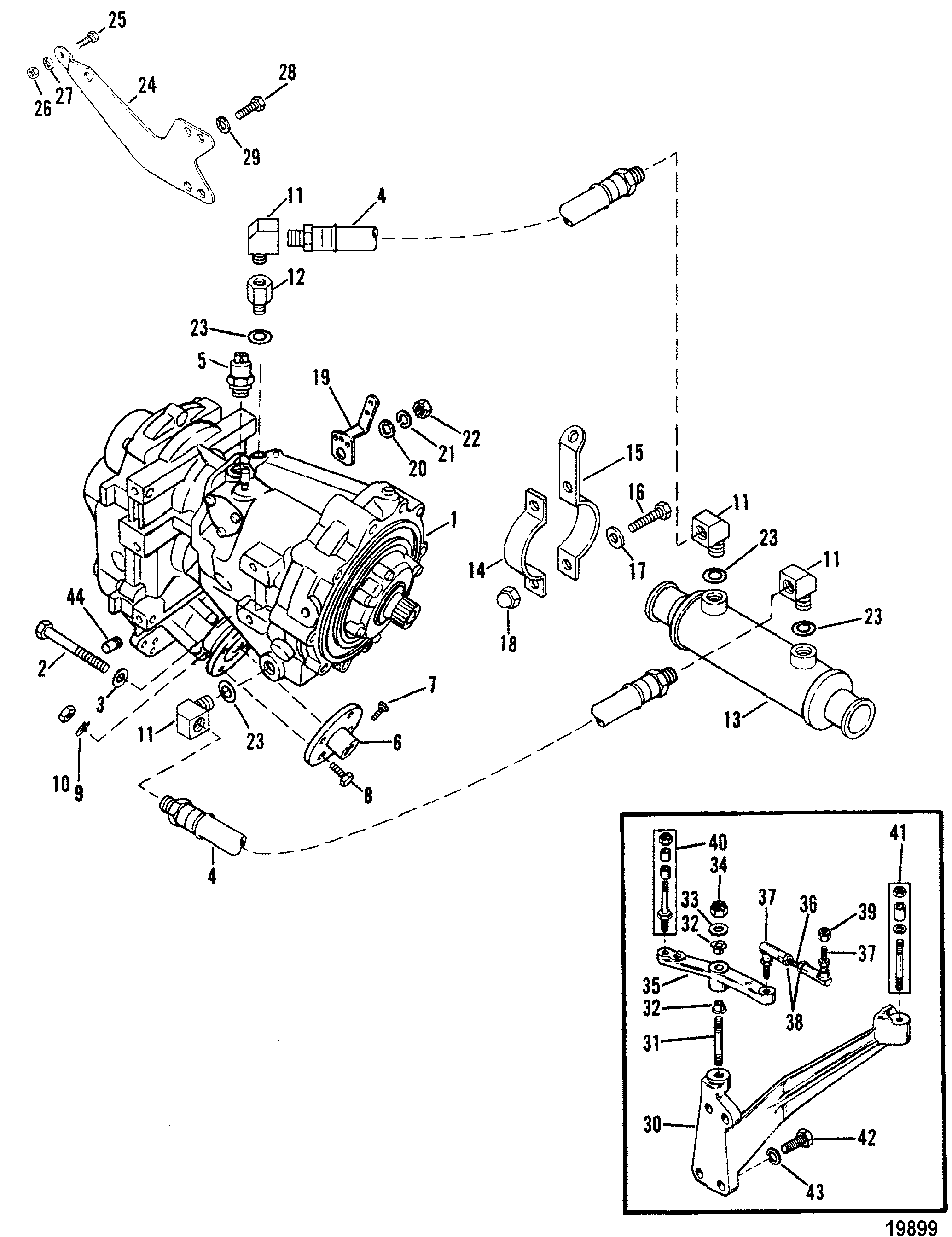 TRANSMISSION AND RELATED PARTS V-DRIVE FOR MERCRUISER