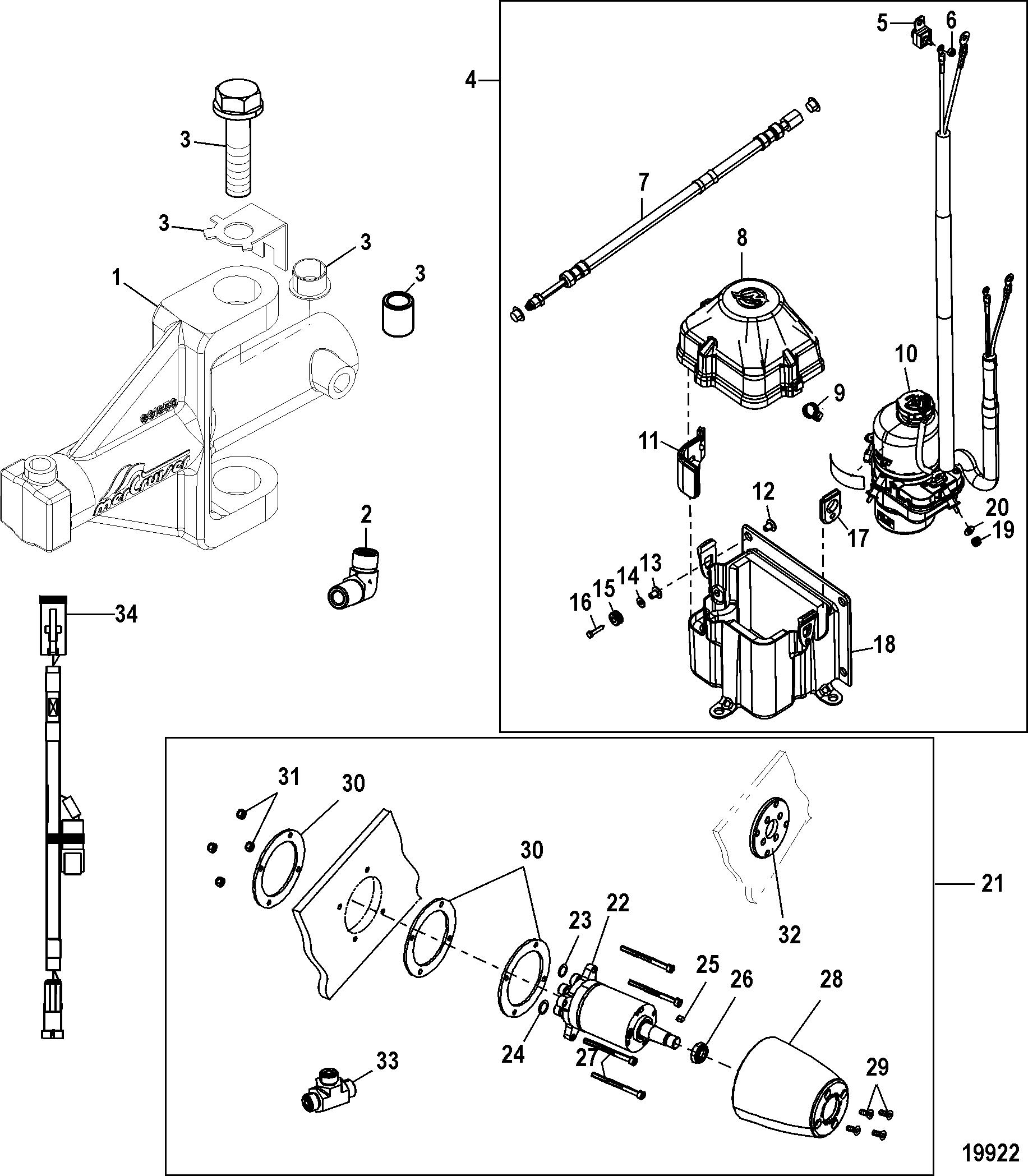 Electro-Hydraulic Power Steering Kit FOR MERCRUISER BRAVO