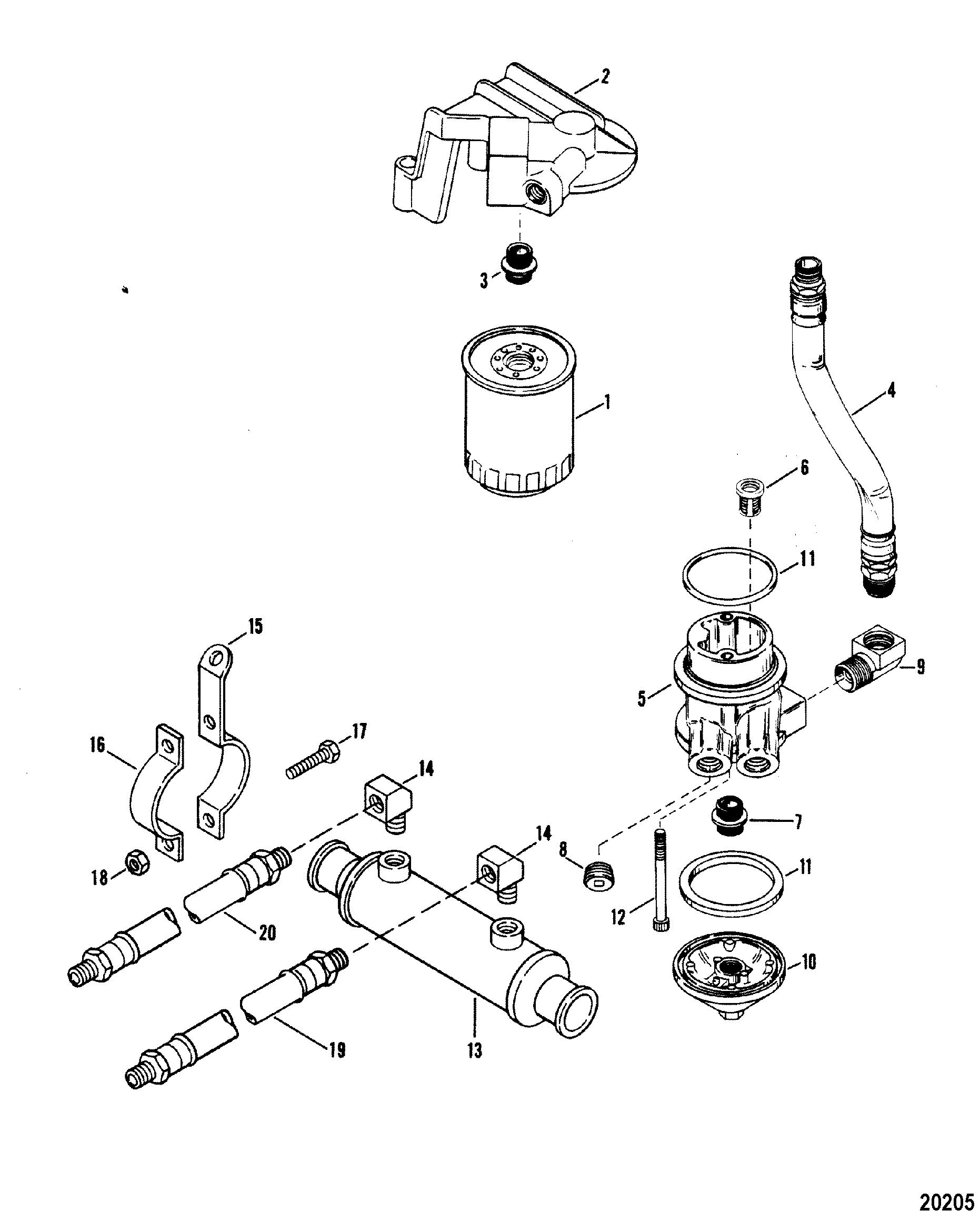 Engine section array oil filter and adapter for mercruiser 330 h p engine w borg warner rh jamestowndistributors