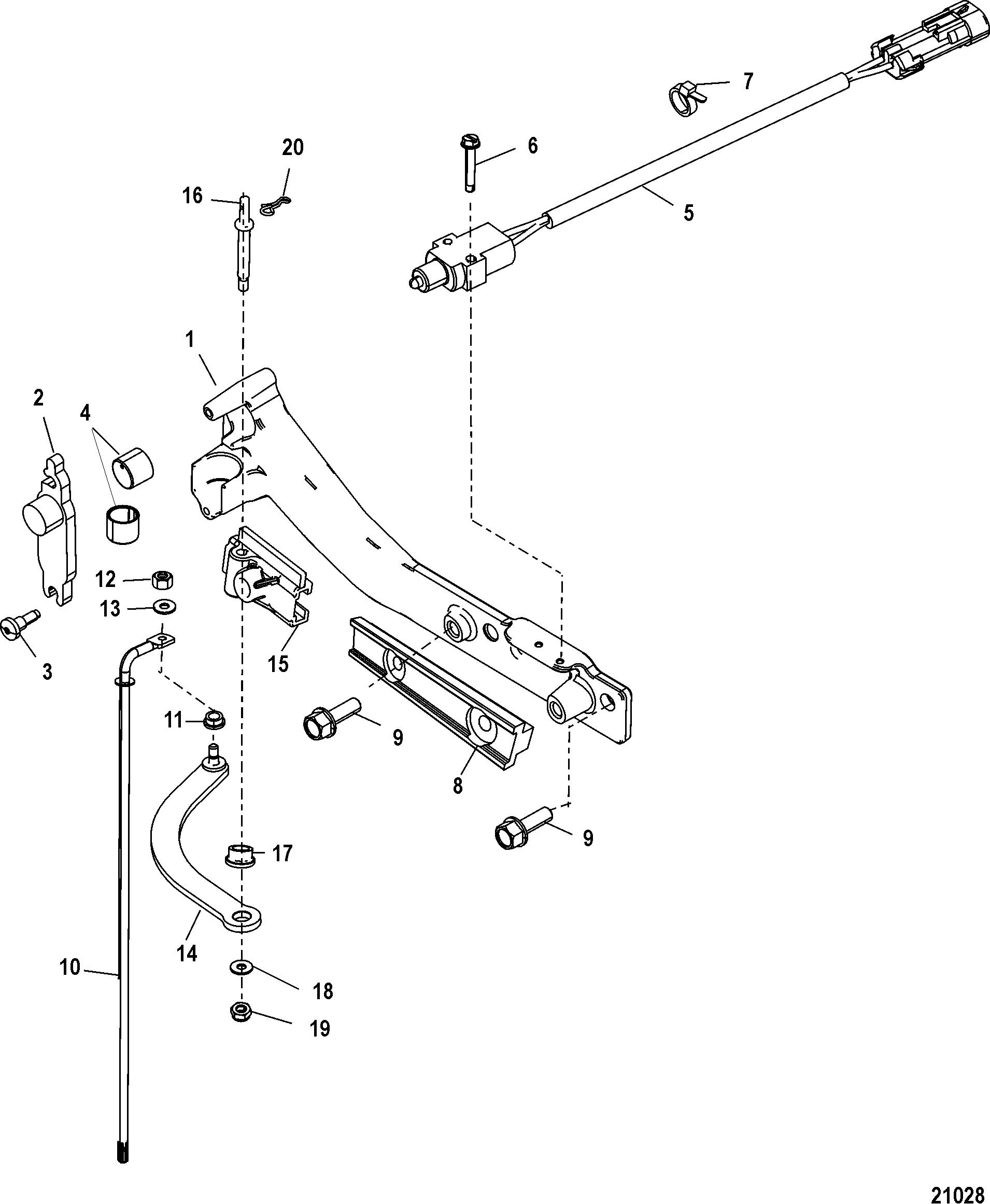 mercury outboard shifter diagram