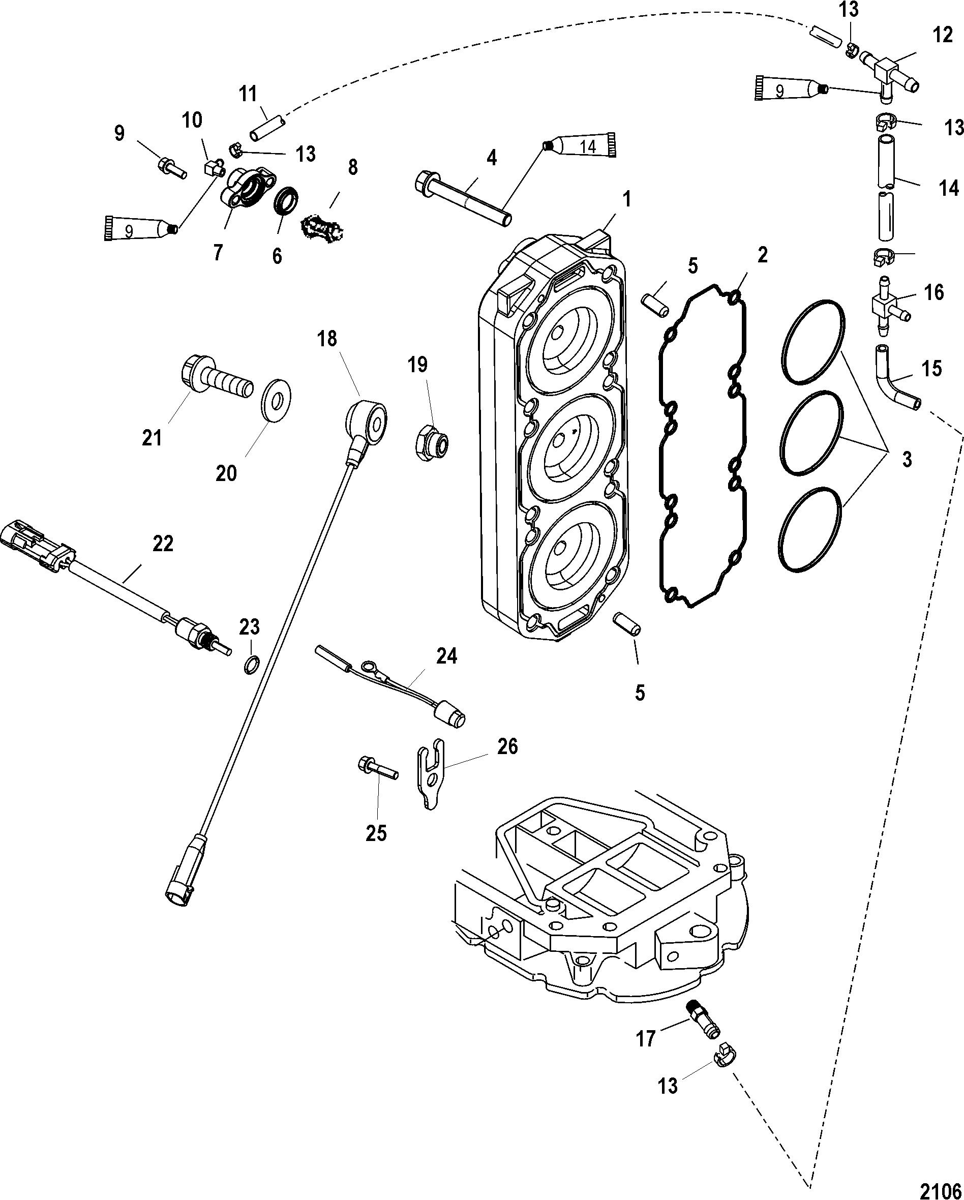 CYLINDER HEAD FOR MARINER / MERCURY 150/175/200 EFI 2.5L
