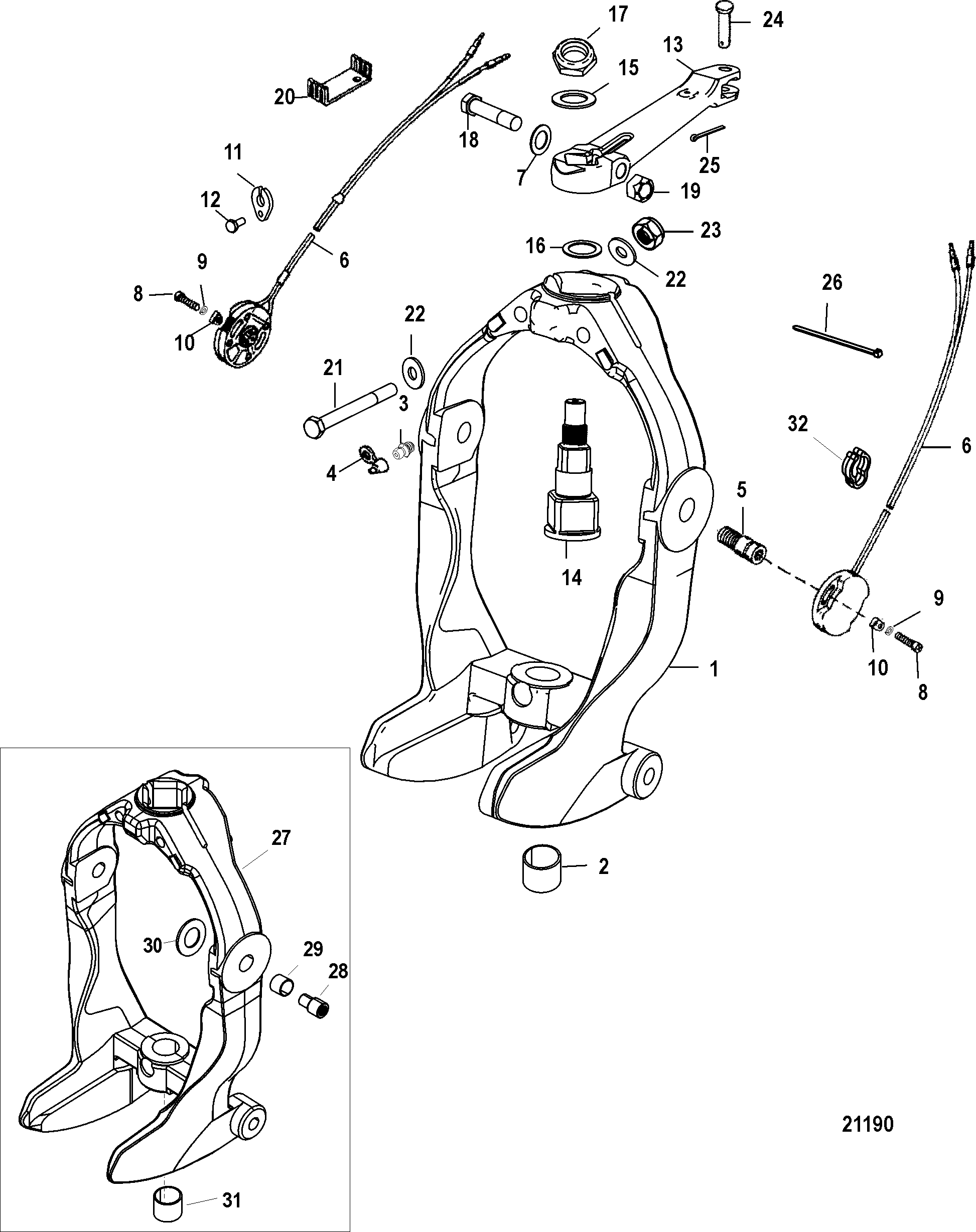 Mercury Alpha One Outdrive Diagram, Mercury, Free Engine