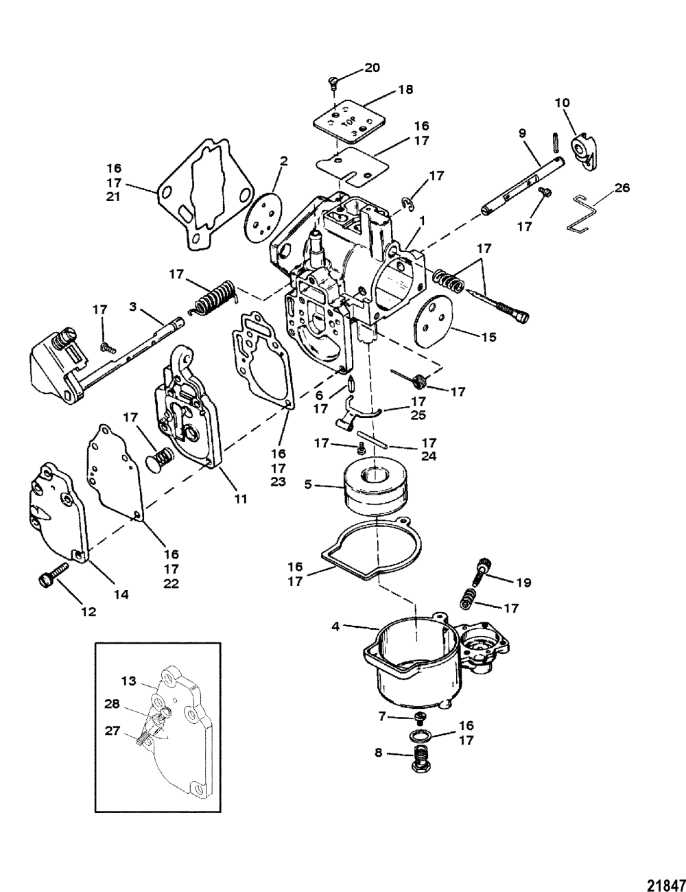 medium resolution of carburetor seapro marathon 15 25 super 15 for mariner mariner 25 hp outboard wiring diagram mariner
