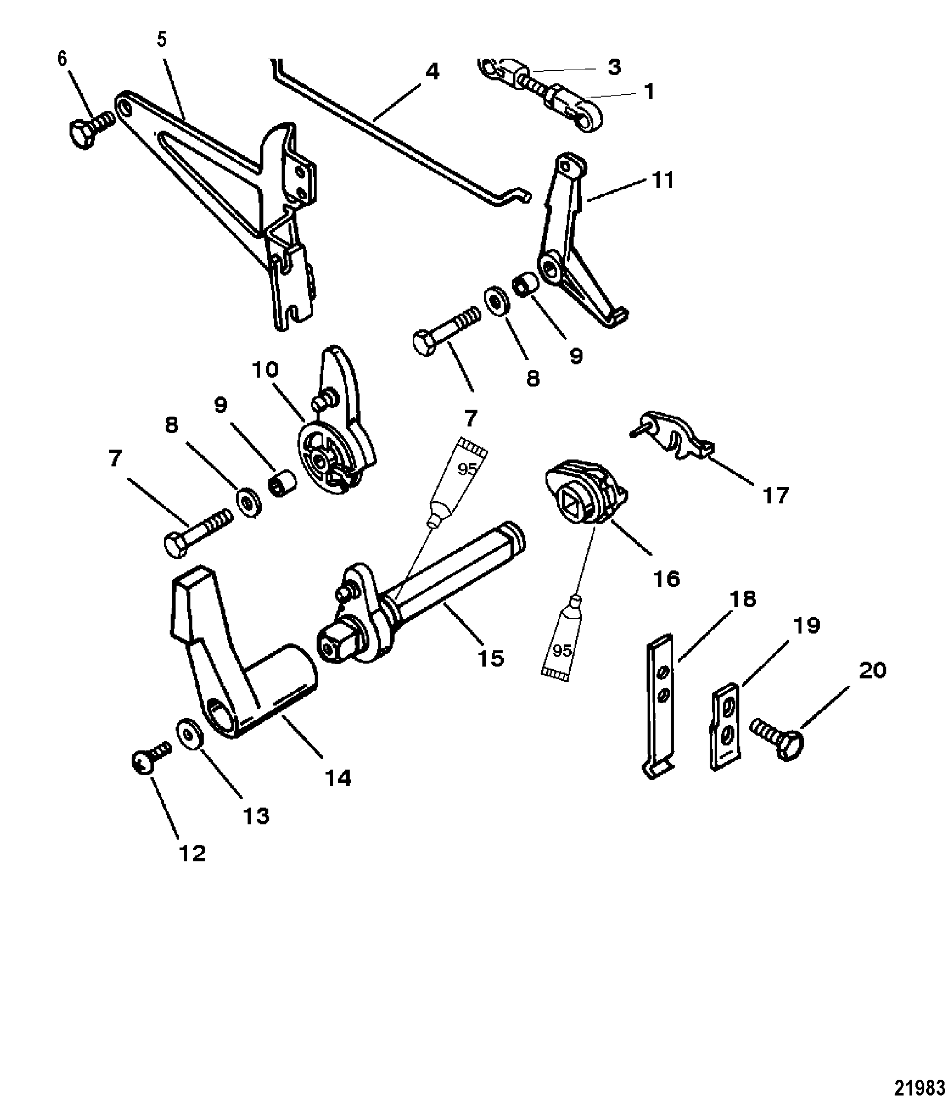 Throttle and Shift Linkage FOR MARINER / MERCURY SEA PRO