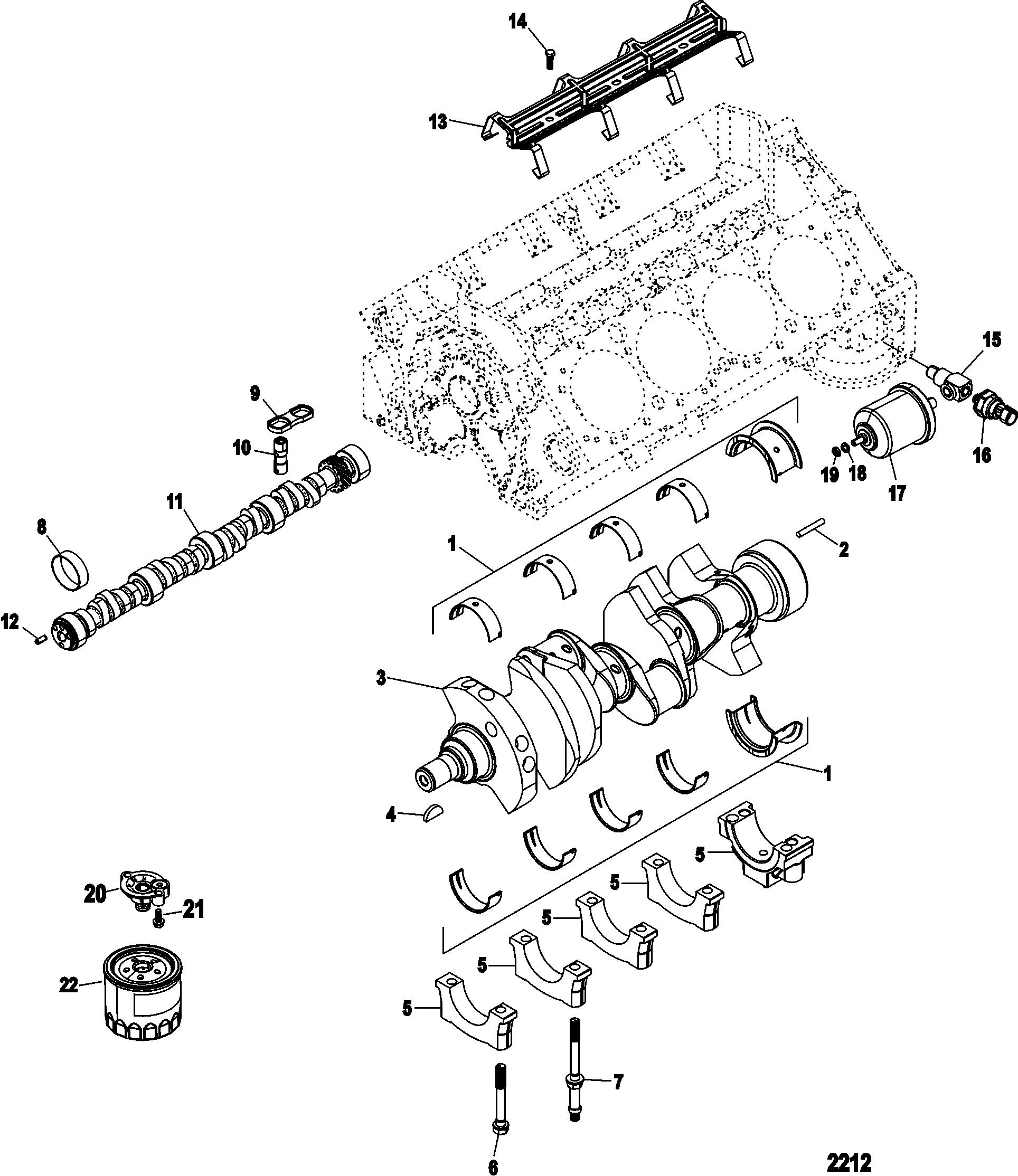 Cylinder Block, Camshaft and Crankshaft FOR MISCELLANEOUS
