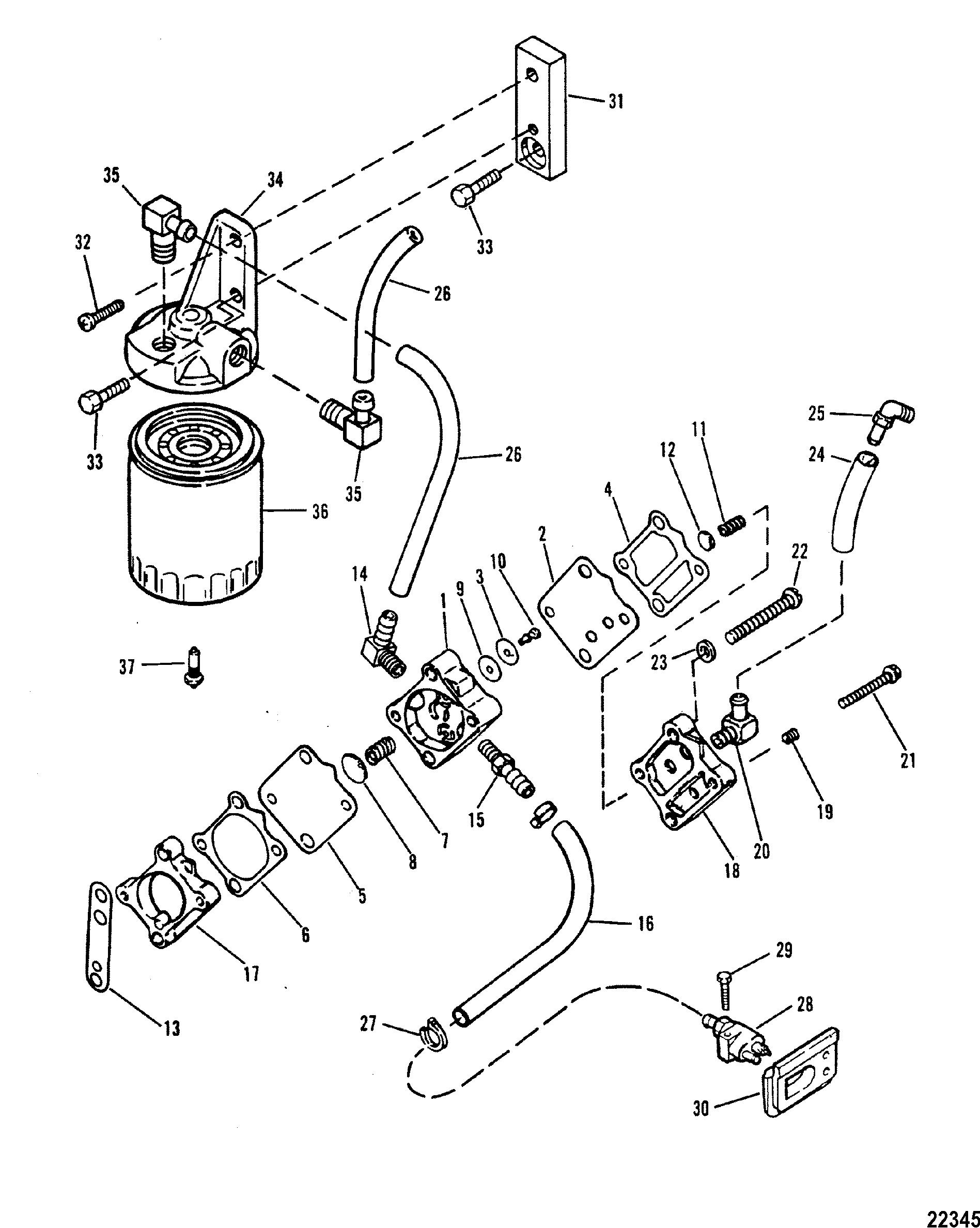 [WRG-7792] 200 Hp Mercury Fuel Filters
