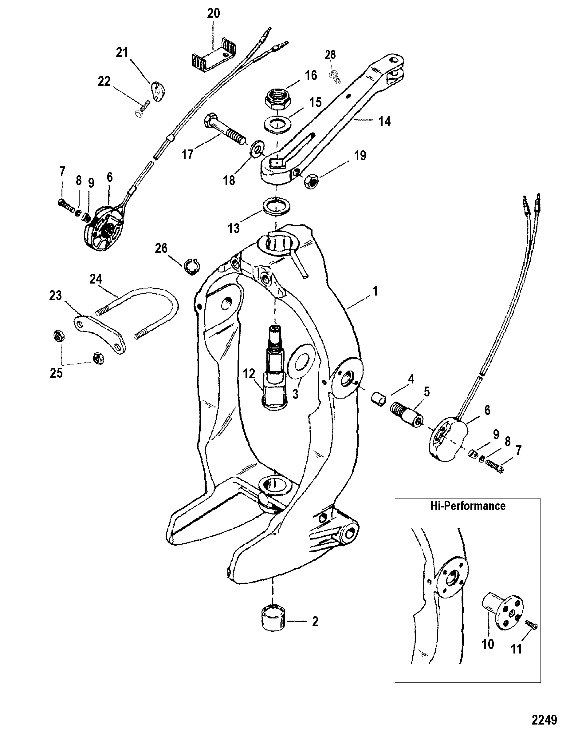 hight resolution of have about 20 of steering wheel slop and it s caused by the 3 8 clevis pin that connects the steering cable end in the top picture to the steering lever