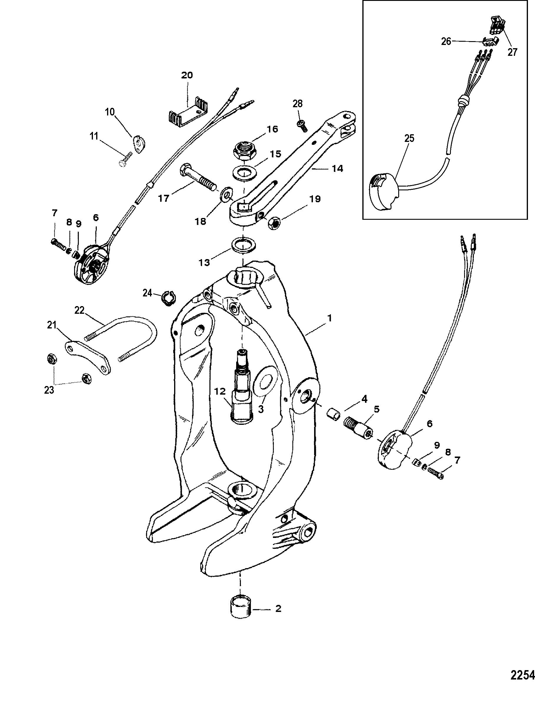 Gimbal Ring And Steering Lever FOR MERCRUISER BRAVO X I-II-III