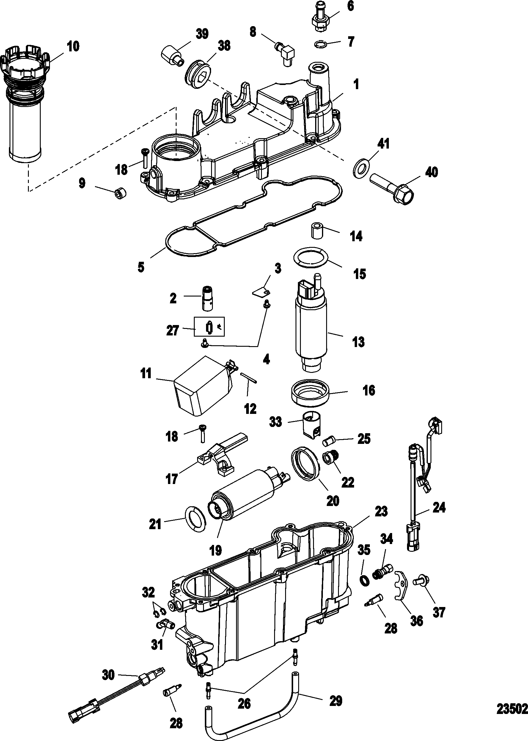 Vapor Separator Components FOR MERCURY / RACE OUTBOARD