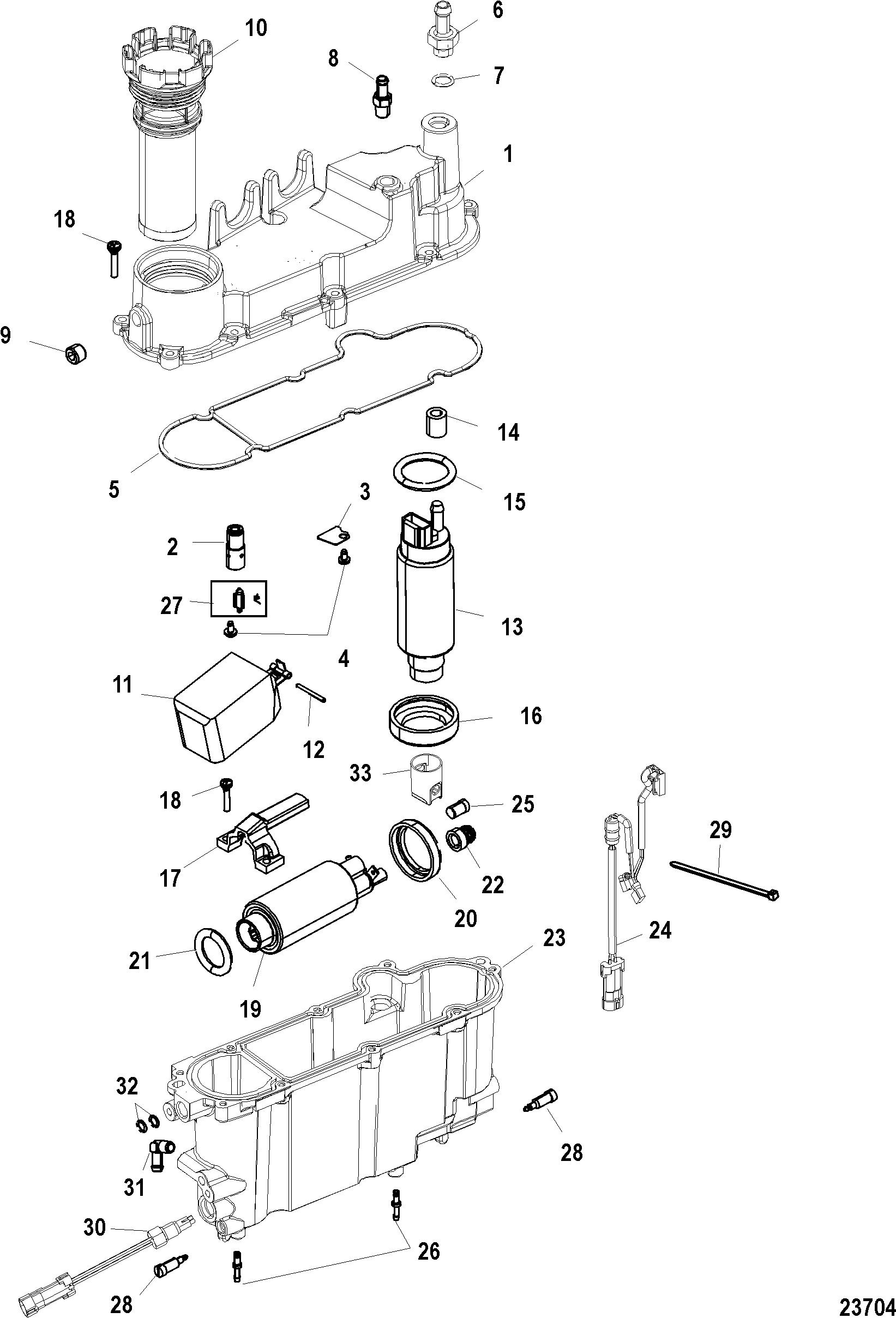 Vapor Separator FOR MARINER / MERCURY 75/90/115 DFI 1.5L 3