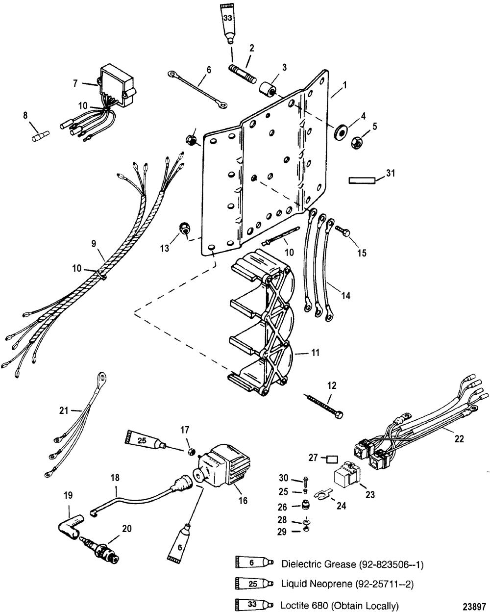 medium resolution of ignition coil voltage regulator for mariner mercury 135 60 hp mercury outboard wiring diagram mercury outboard wiring harness diagram