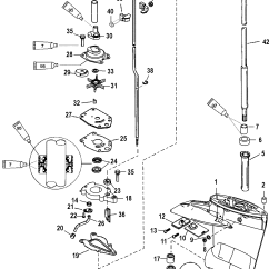 Outboard Motor Lower Unit Diagram Mf 240 Wiring Gear Housing Driveshaft 2 00 1 Ratio For Mariner