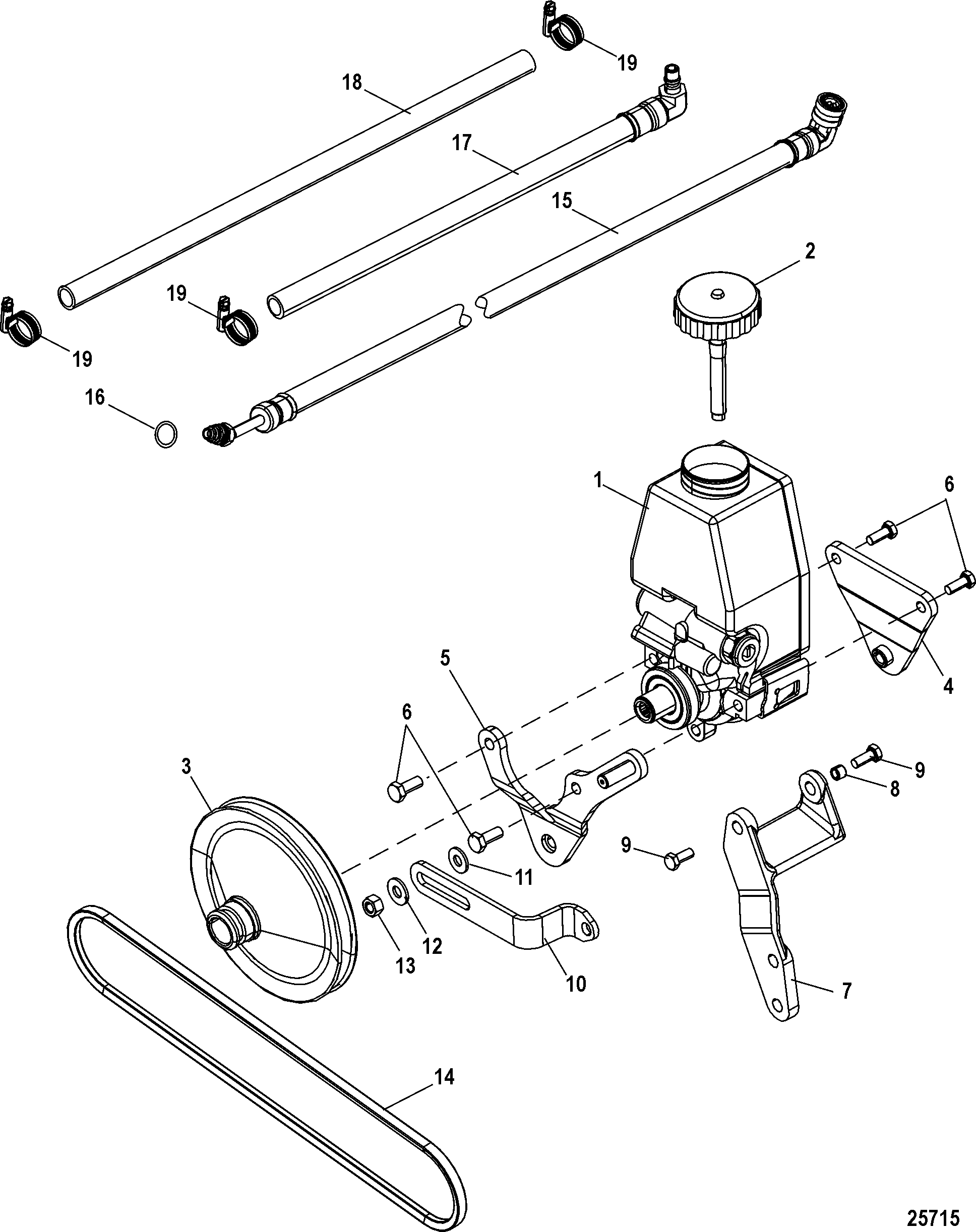 Steering Components For Mercruiser 3 0l Alpha One