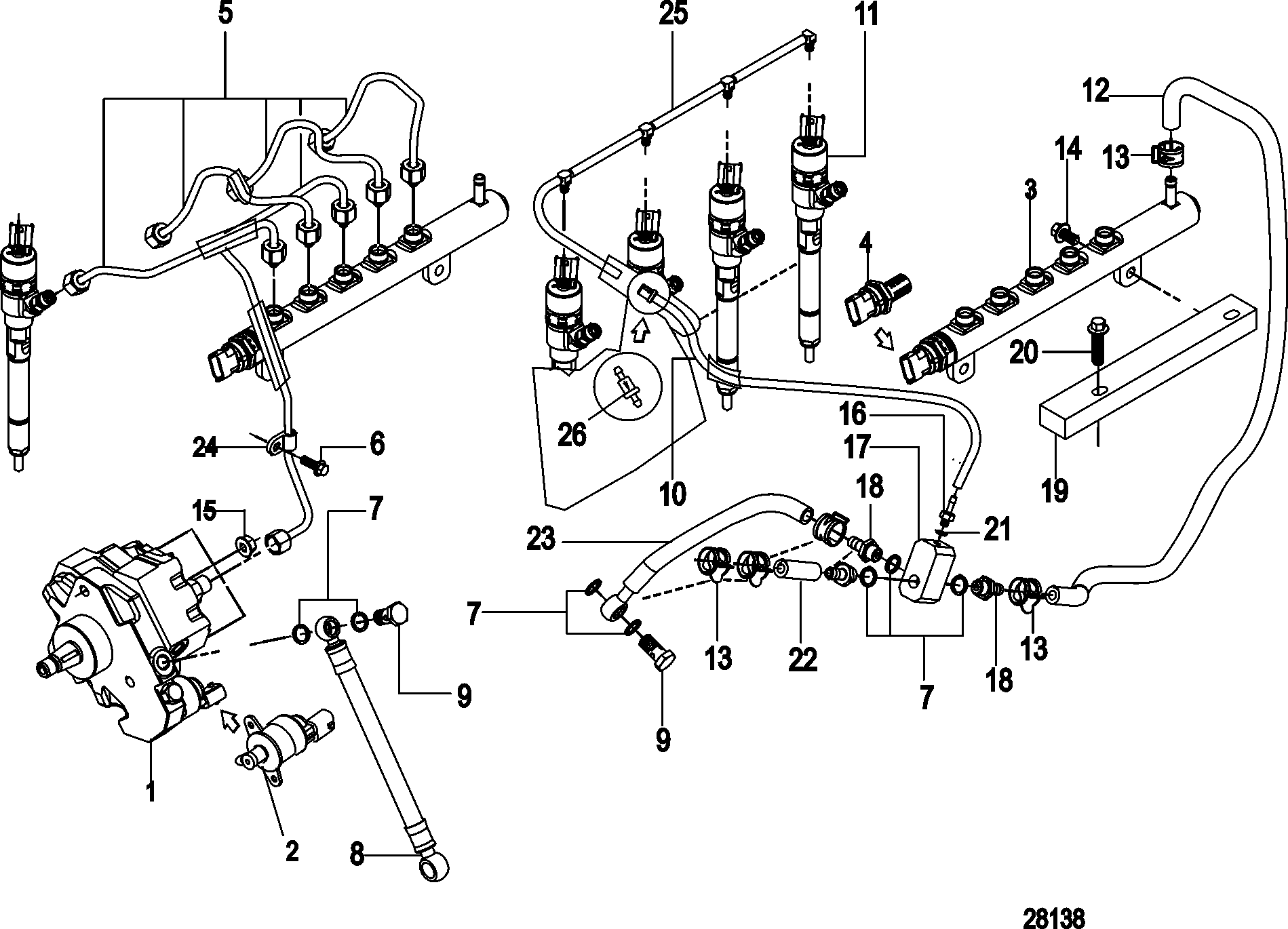 Fuel Injection, Pump, Rails, Lines and Injector FOR
