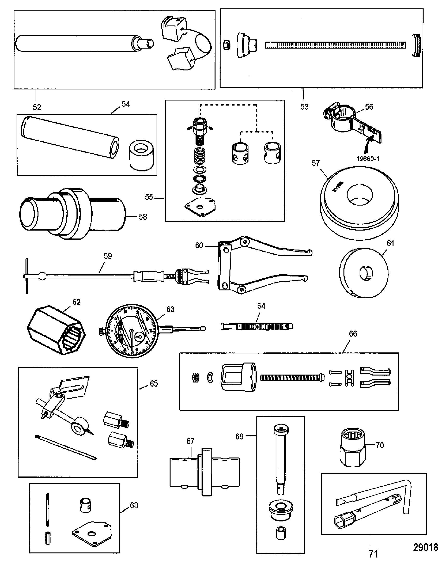 Tools 3 FOR MARINER / MERCURY 30/40 EFI 4-STROKE 3 CYLINDER