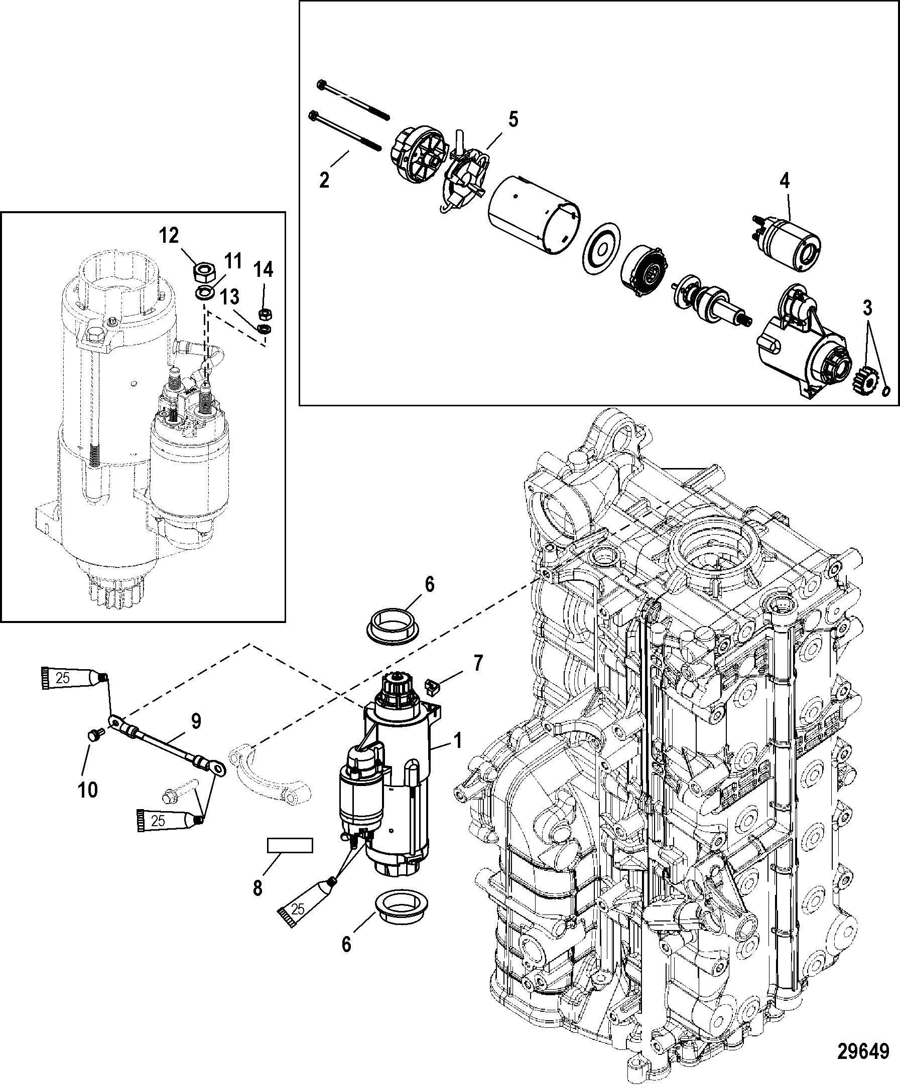 Starter Motor FOR MERCURY 250/300 PRO 4-STROKE VERADO 6