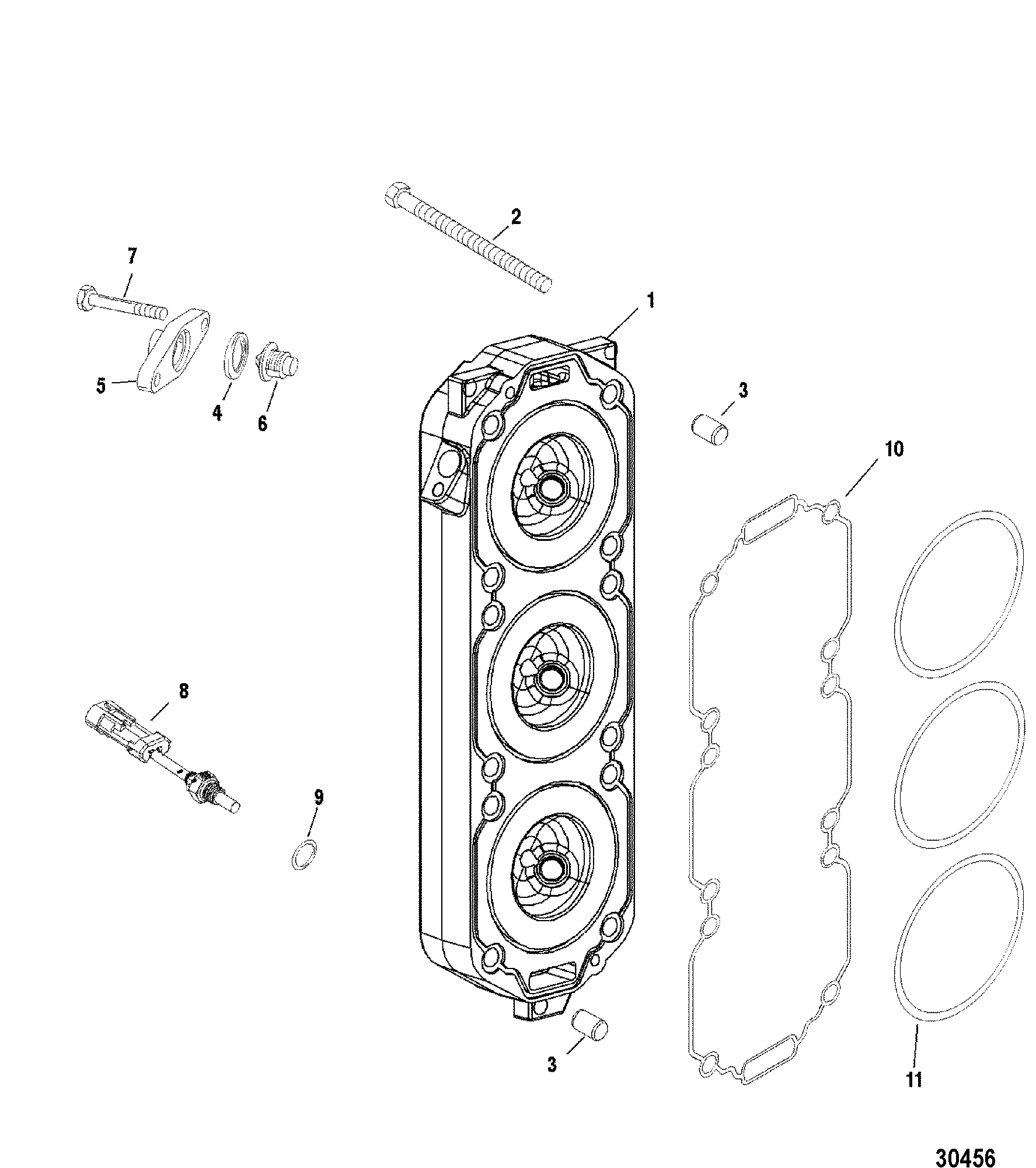 CYLINDER HEAD FOR MARINER / MERCURY 135/150/175 DFI 2.5L