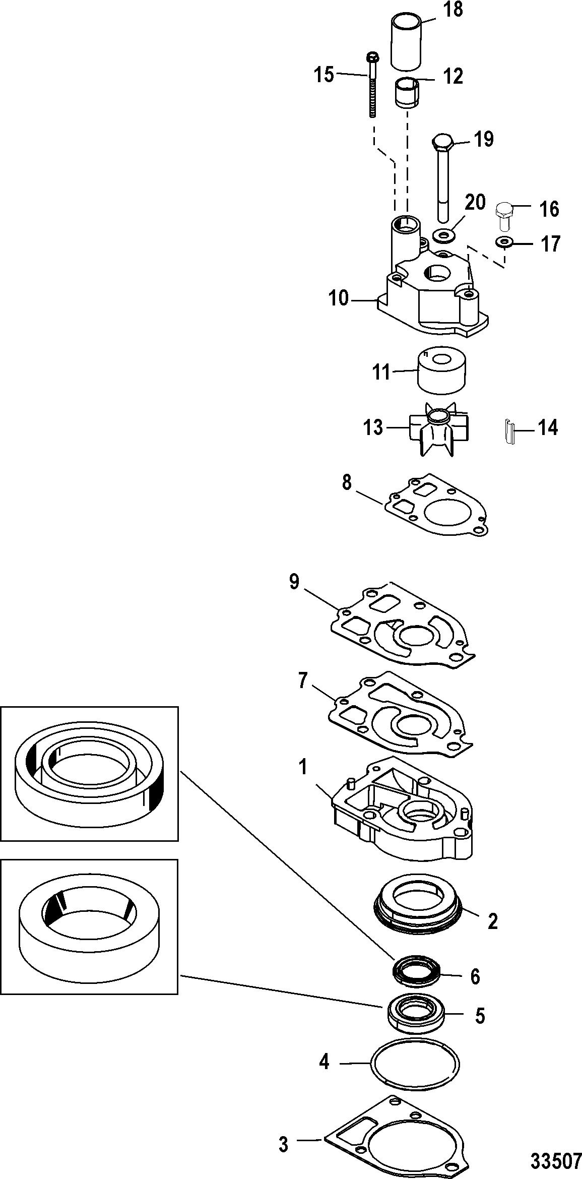 Water Pump Kit, Jet FOR MARINER / MERCURY 135/150/175 DFI