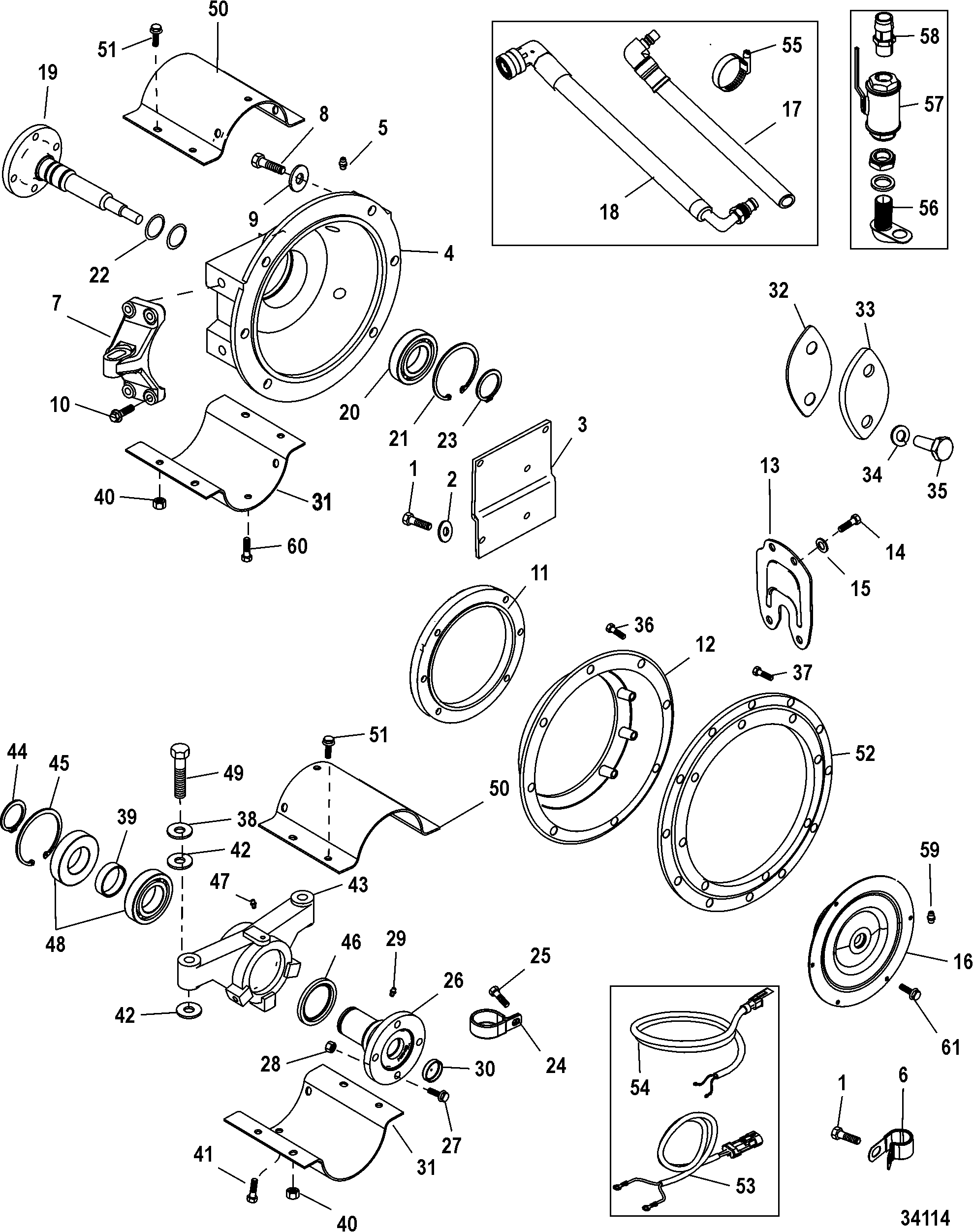 Jackshaft Components FOR MERCRUISER / MIE CUMMINS