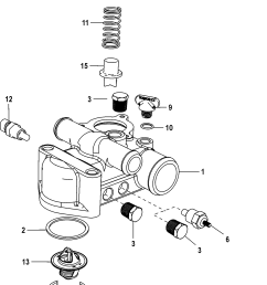 thermostat and housing standard cooling for mercruiser 5 0 350 377 mag mpi sterndrive ec [ 1499 x 2421 Pixel ]