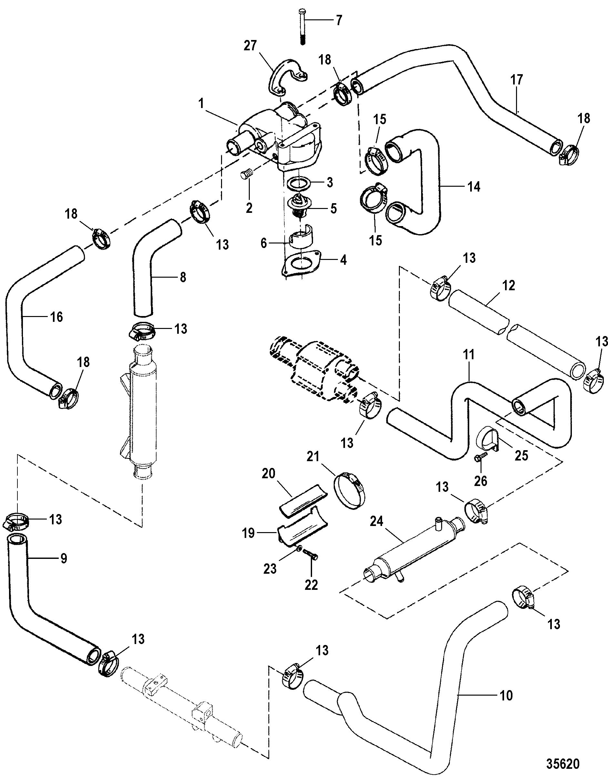 mercruiser water pump diagram truck lite trailer wiring 7 4 engine fuel get free image about