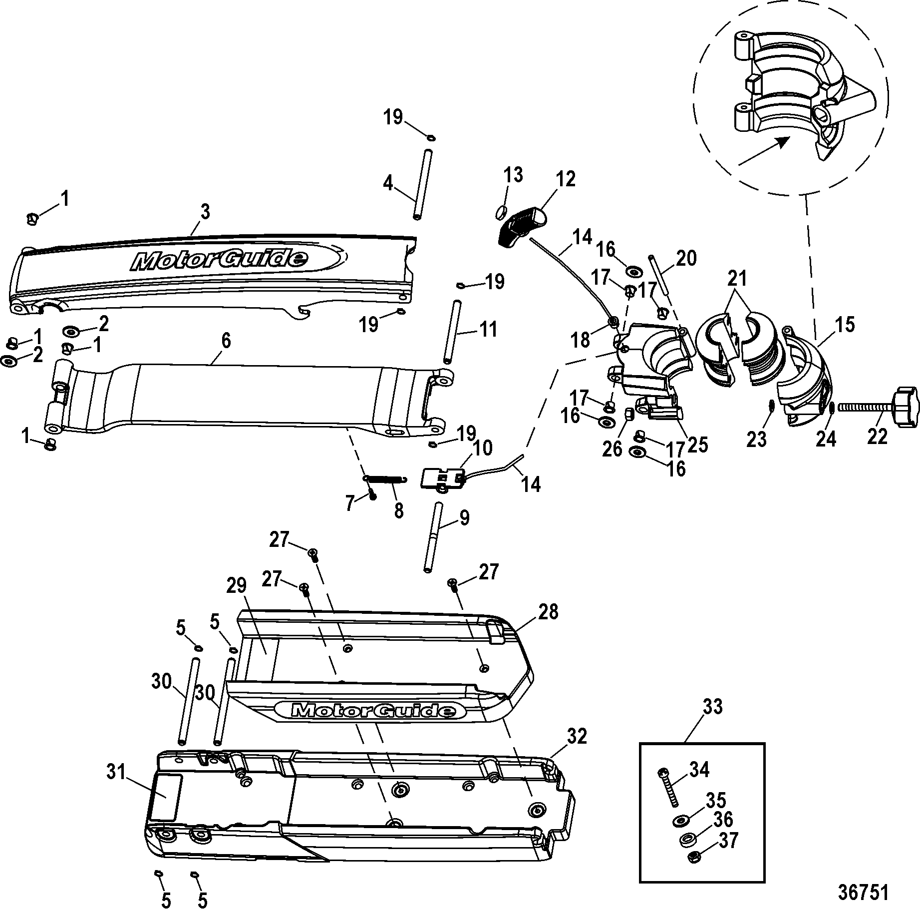Motorguide W75 Parts Diagram