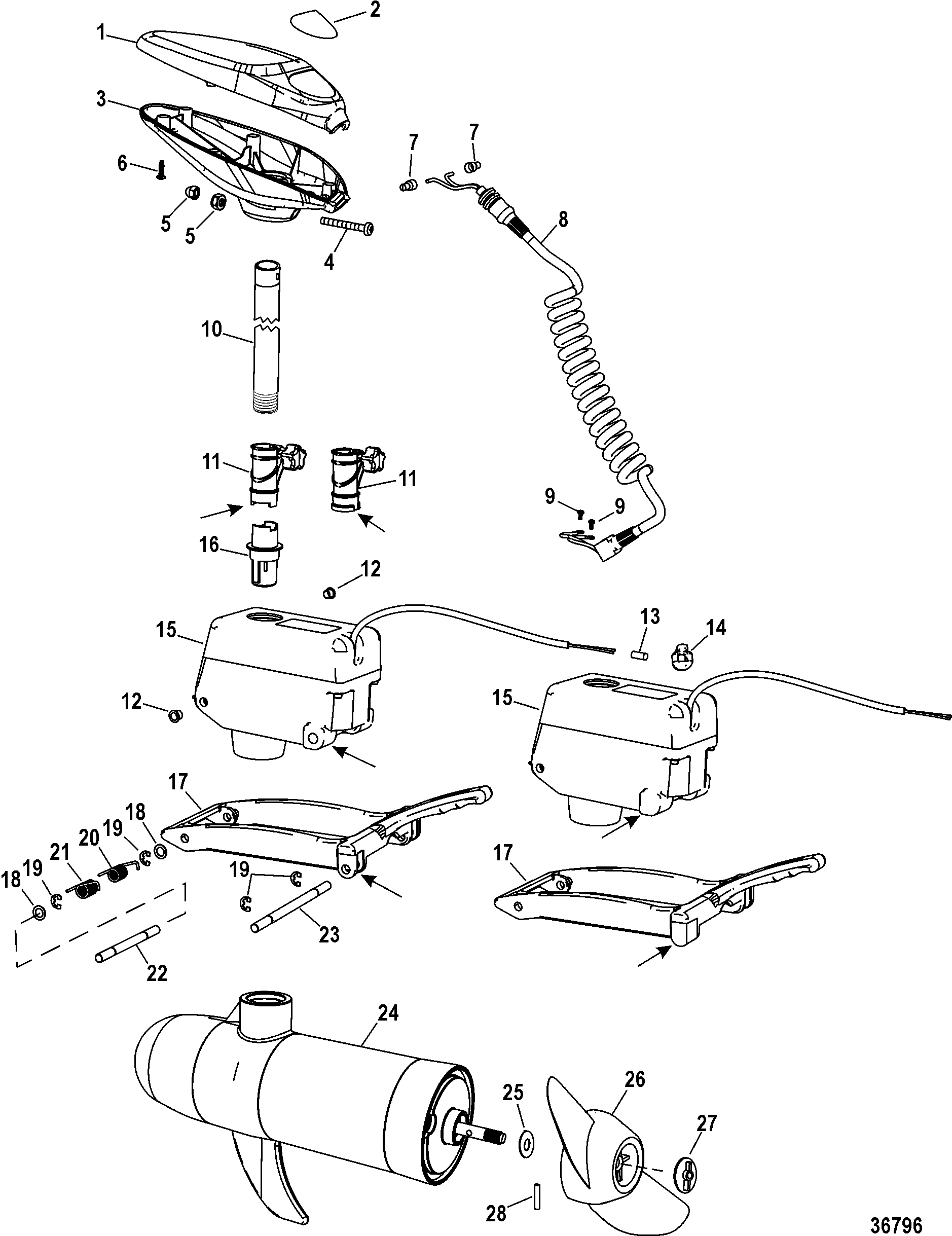 Complete Trolling Motor Brute 50/70 Wireless 12/24 Volt