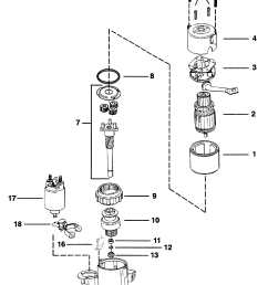 starter motor 8 pg 260 2 7 8 diameter end cap for mercruiser 4 3l 4 3lx alpha one engine 262 cid gen ii [ 1678 x 2422 Pixel ]