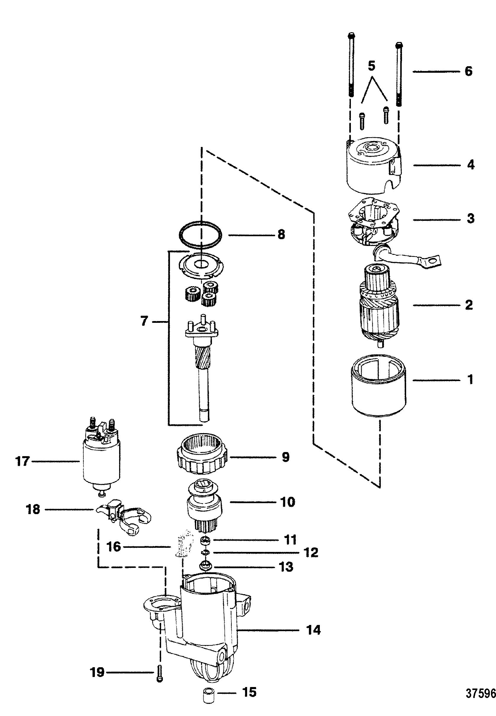 hight resolution of starter motor 8 pg 260 2 7 8 diameter end cap for mercruiser 4 3l 4 3lx alpha one engine 262 cid gen ii