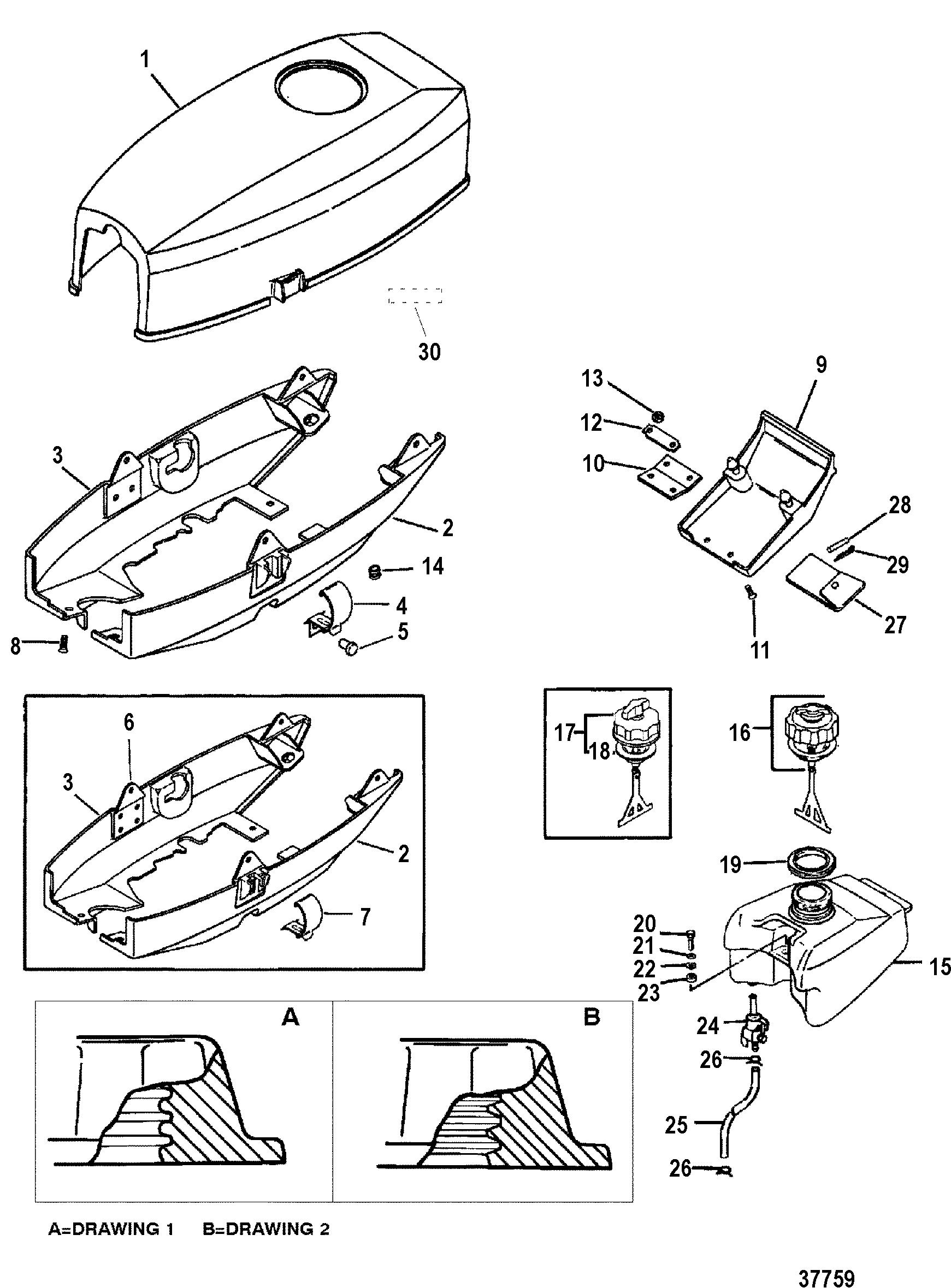 3 5 Mercury Outboard Engine Diagram