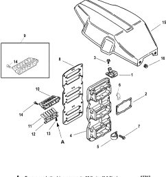 reed block flywheel cover for mariner mercury 225 250 efi 3 0l [ 1733 x 1900 Pixel ]