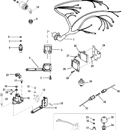 wiring harness and electrical components for mercruiser 7 4l bravo i ii iii engine [ 1965 x 2402 Pixel ]
