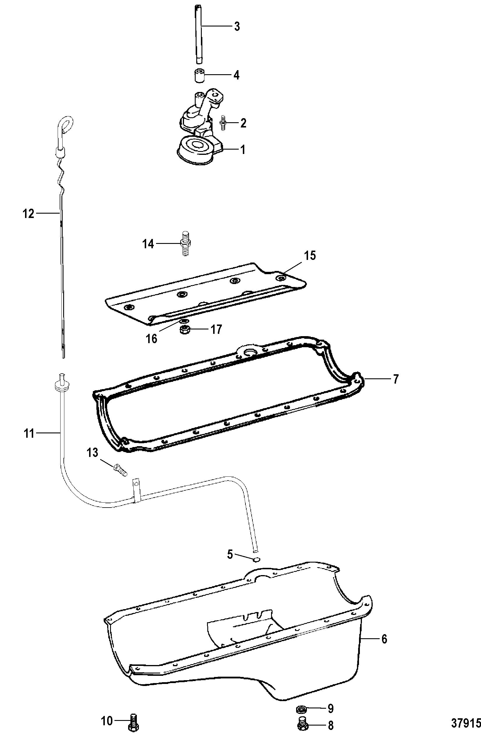 OIL PAN AND OIL PUMP FOR MERCRUISER 7.4L BRAVO I, II, III