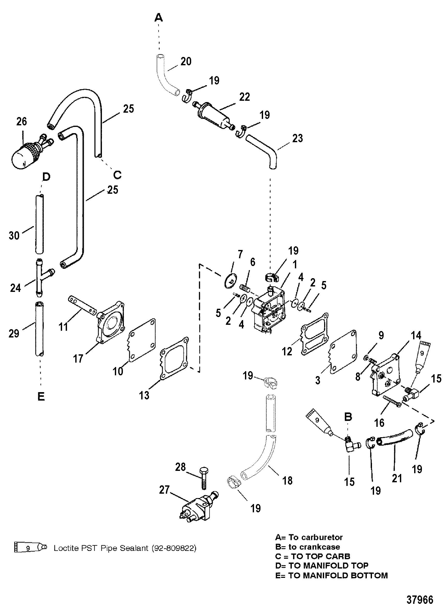 FUEL PUMP MANUAL FOR MARINER / MERCURY 40/50 H.P. JET 30 3
