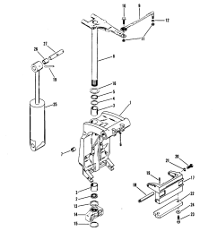 swivel bracket and steering arm for mariner mercury 70 75 80 90 mercury marine mercury outboard 1070717 electrical components diagram [ 1855 x 2137 Pixel ]