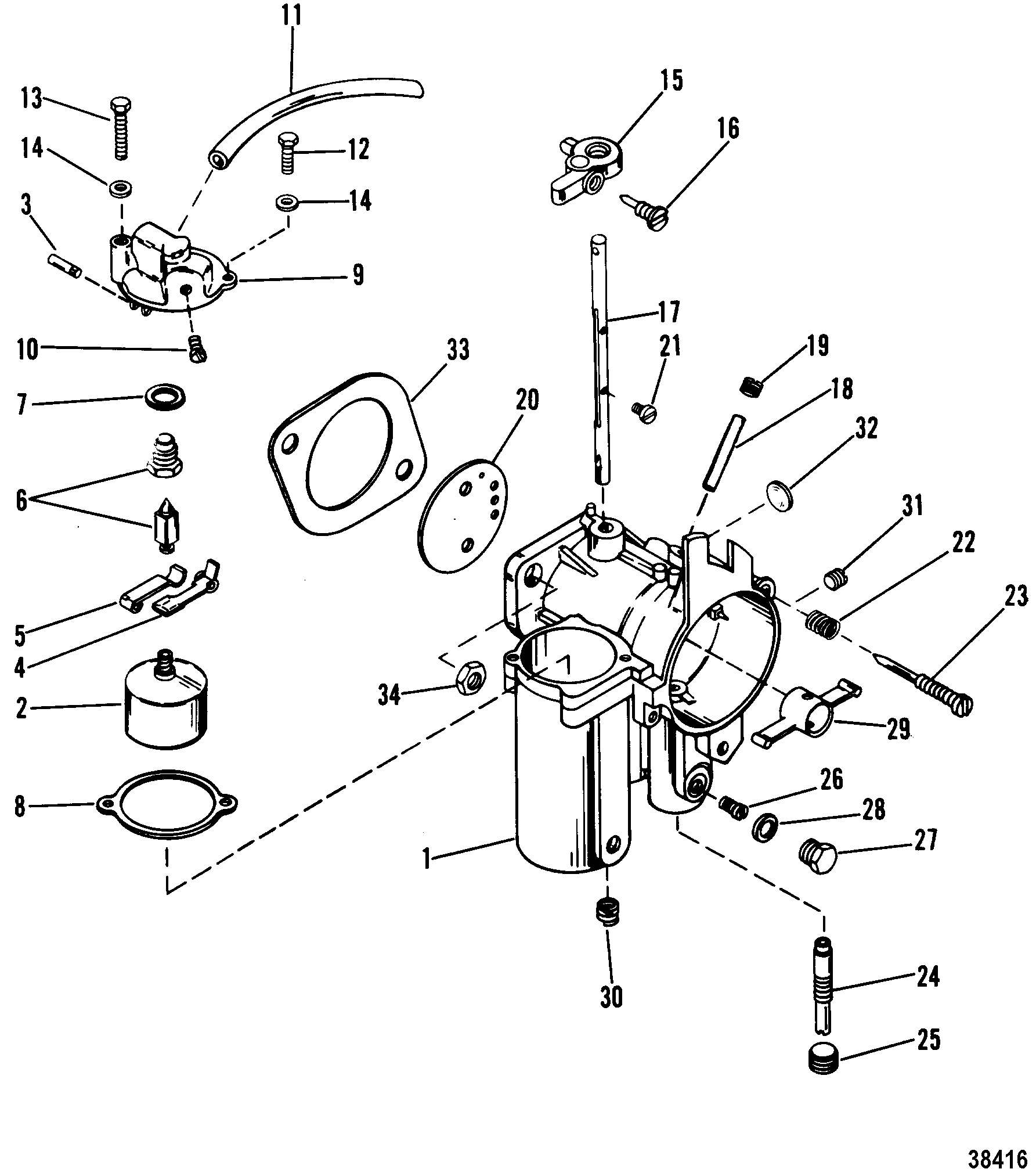 35 Hp Mercury Carburetor Diagram, 35, Free Engine Image