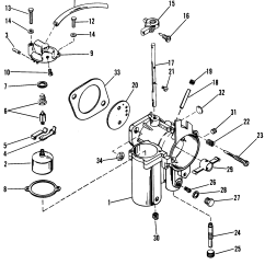 Mercury 115 Wiring Diagram Holley 600 Cfm Carb 115hp Mariner Outboard 45