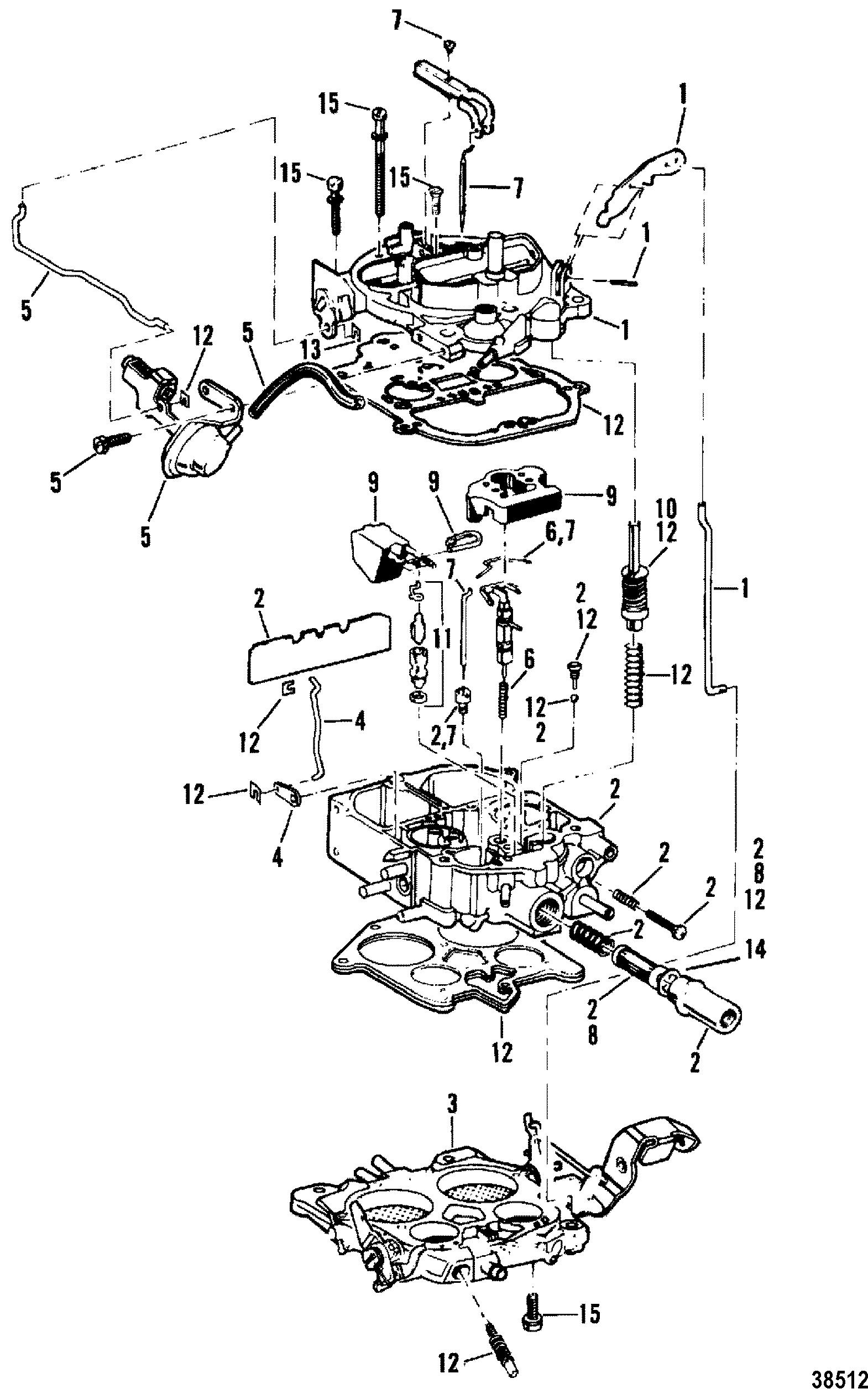 rochester 4 barrel carburetor diagram micro usb to hdmi wiring for mercruiser 200 5 0l lx