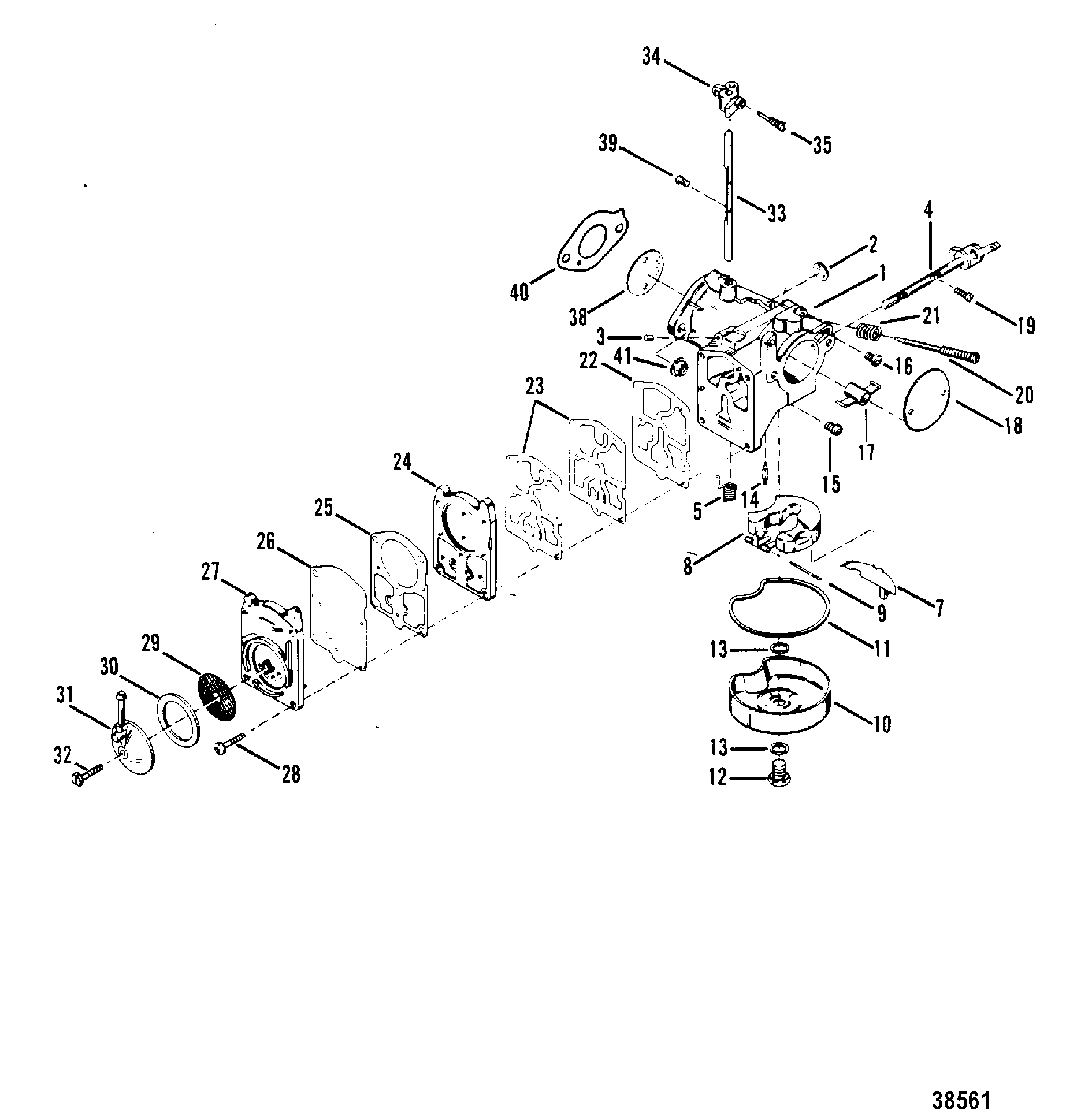 Evinrude 50 Hp Outboard Carburetor Diagram 50 HP Force