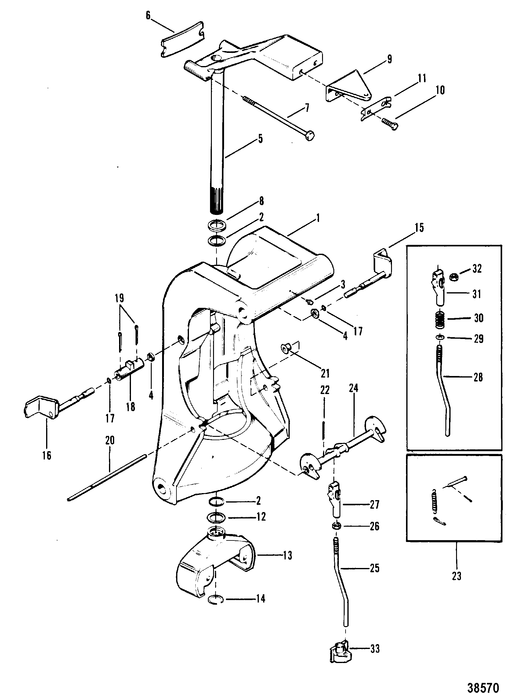 Mercury outboard manual tilt lock