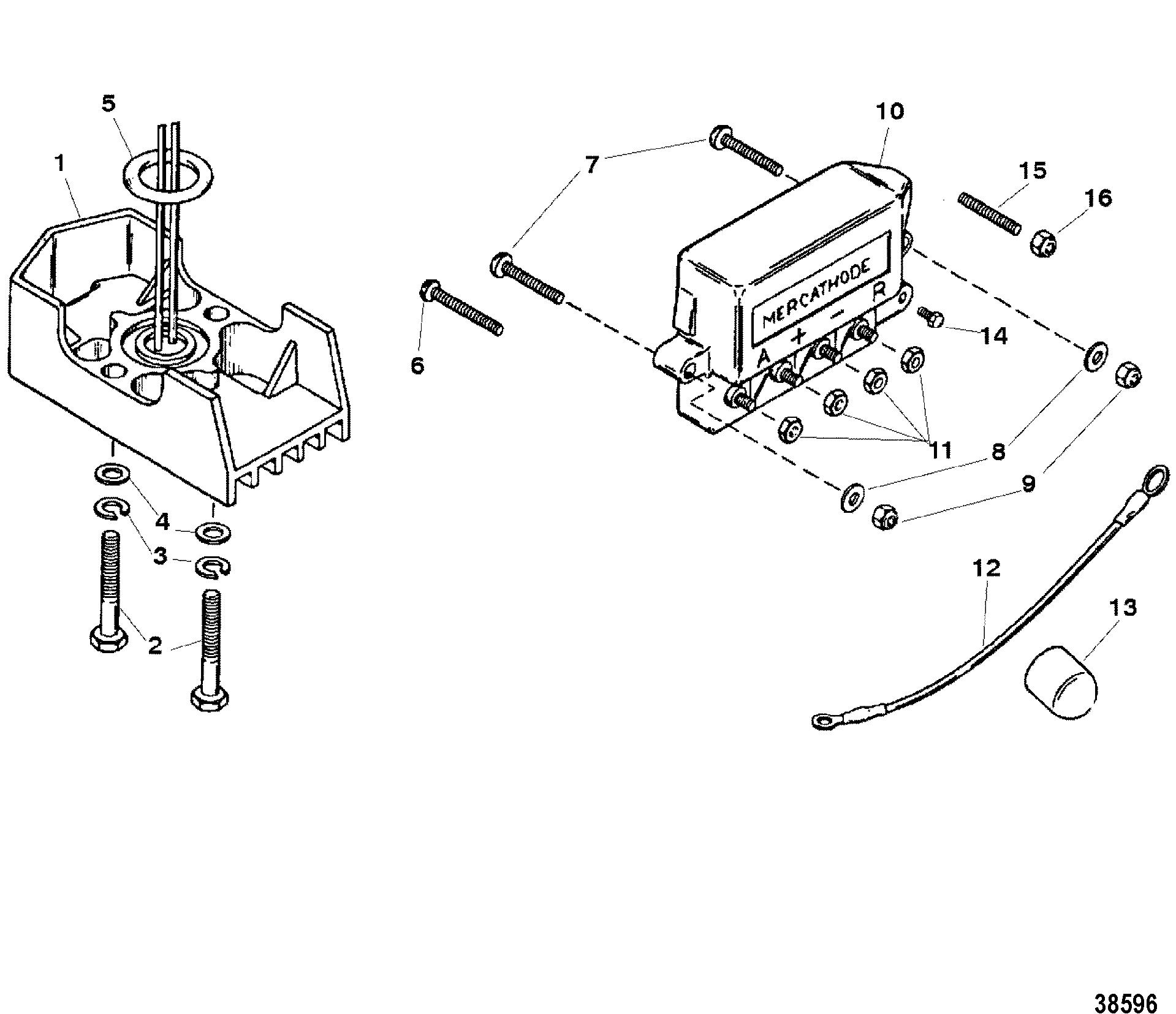 Mercathode Components For Mercruiser 7 4l 454 Mag Bravo Gen V