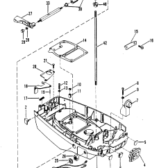 Mercury Quicksilver Throttle Control Diagram 04 Ford Expedition Stereo Wiring Bottom Cowl And Shift Linkage For 7.5 /9.8 H.p.