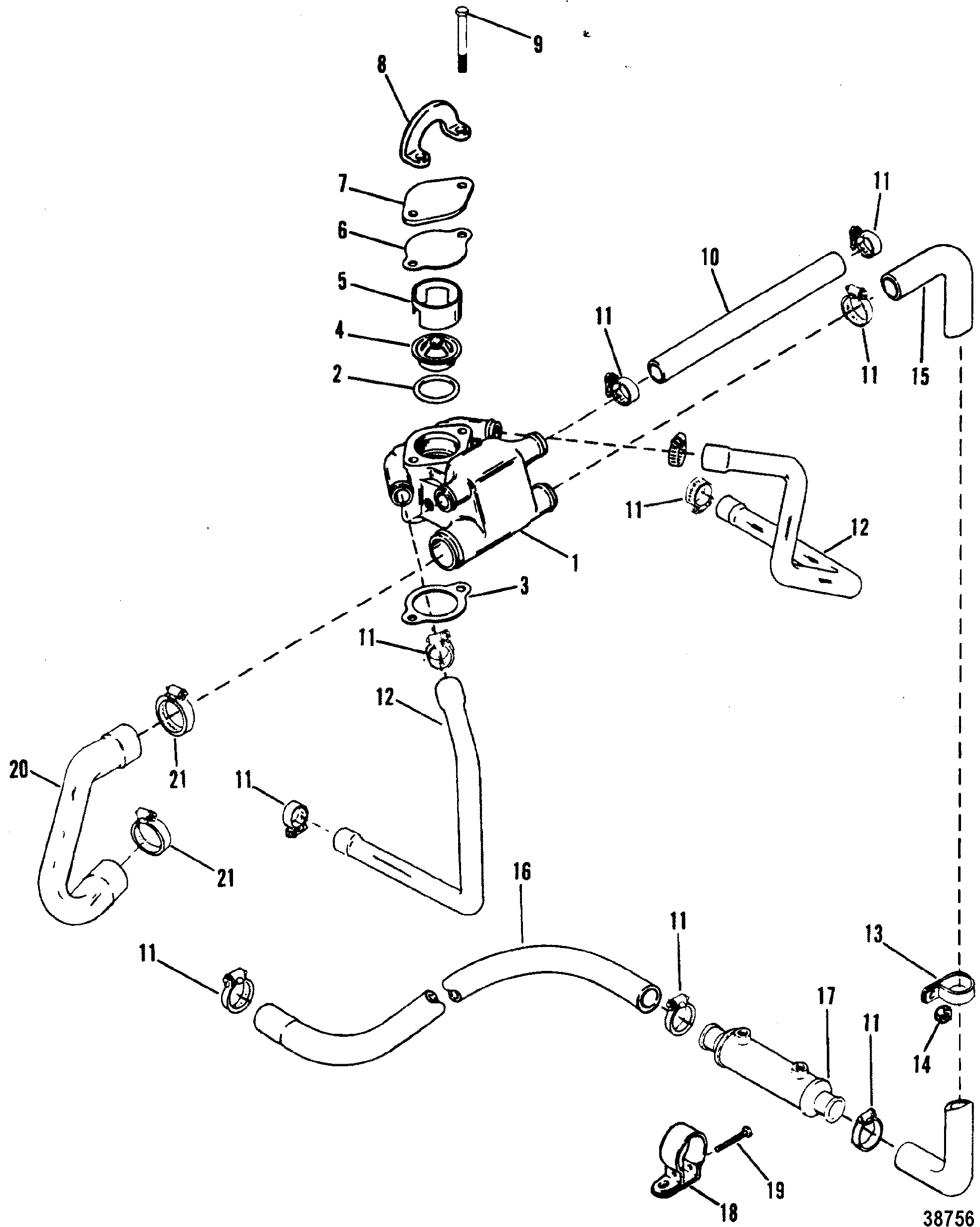 Standard Cooling System Design I For Mercruiser 4 3l 4 3lx